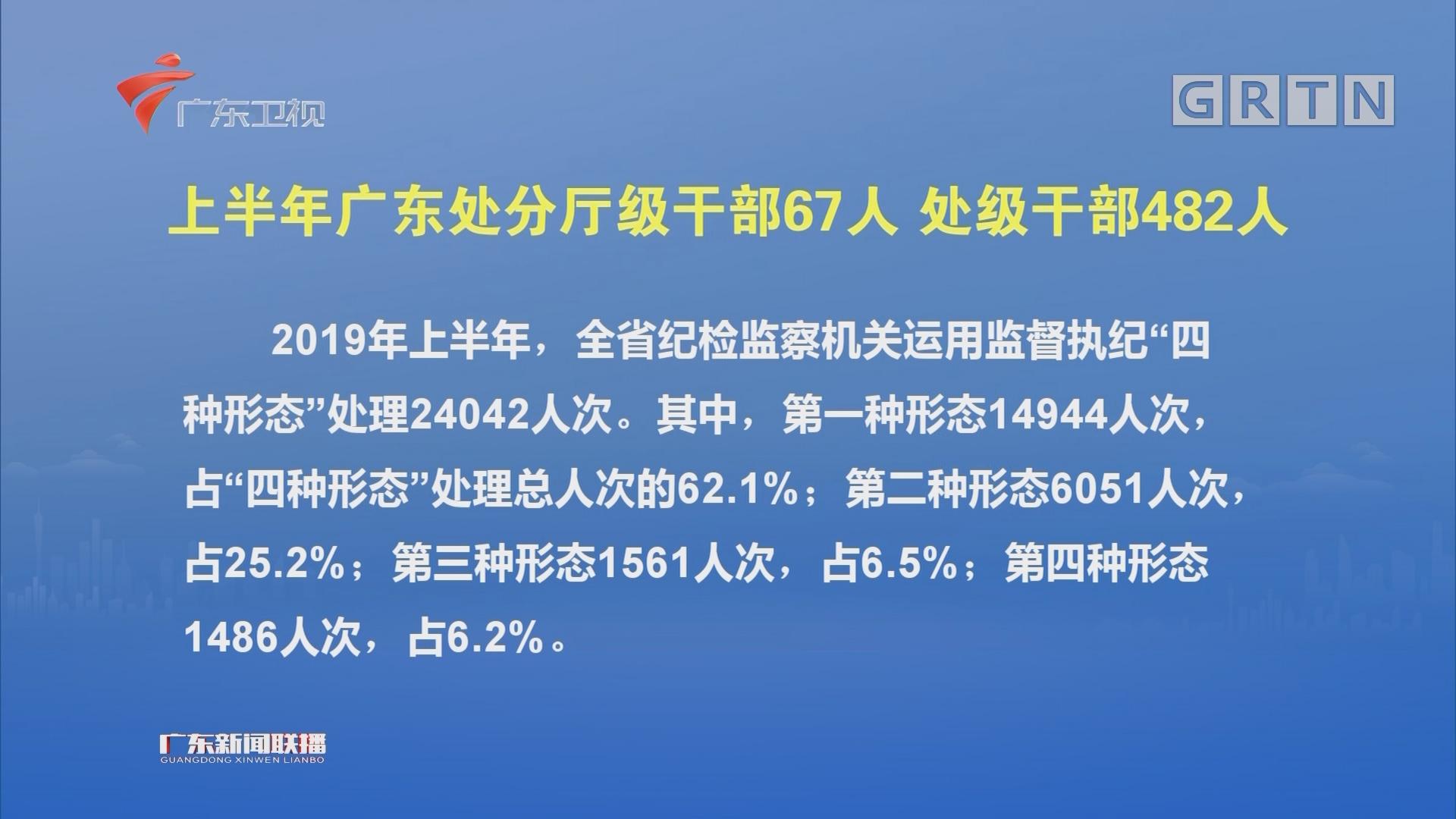 上半年广东处分厅级干部67人 处级干部482人