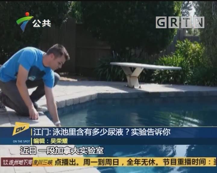 江门:泳池里含有多少尿液?实验告诉你