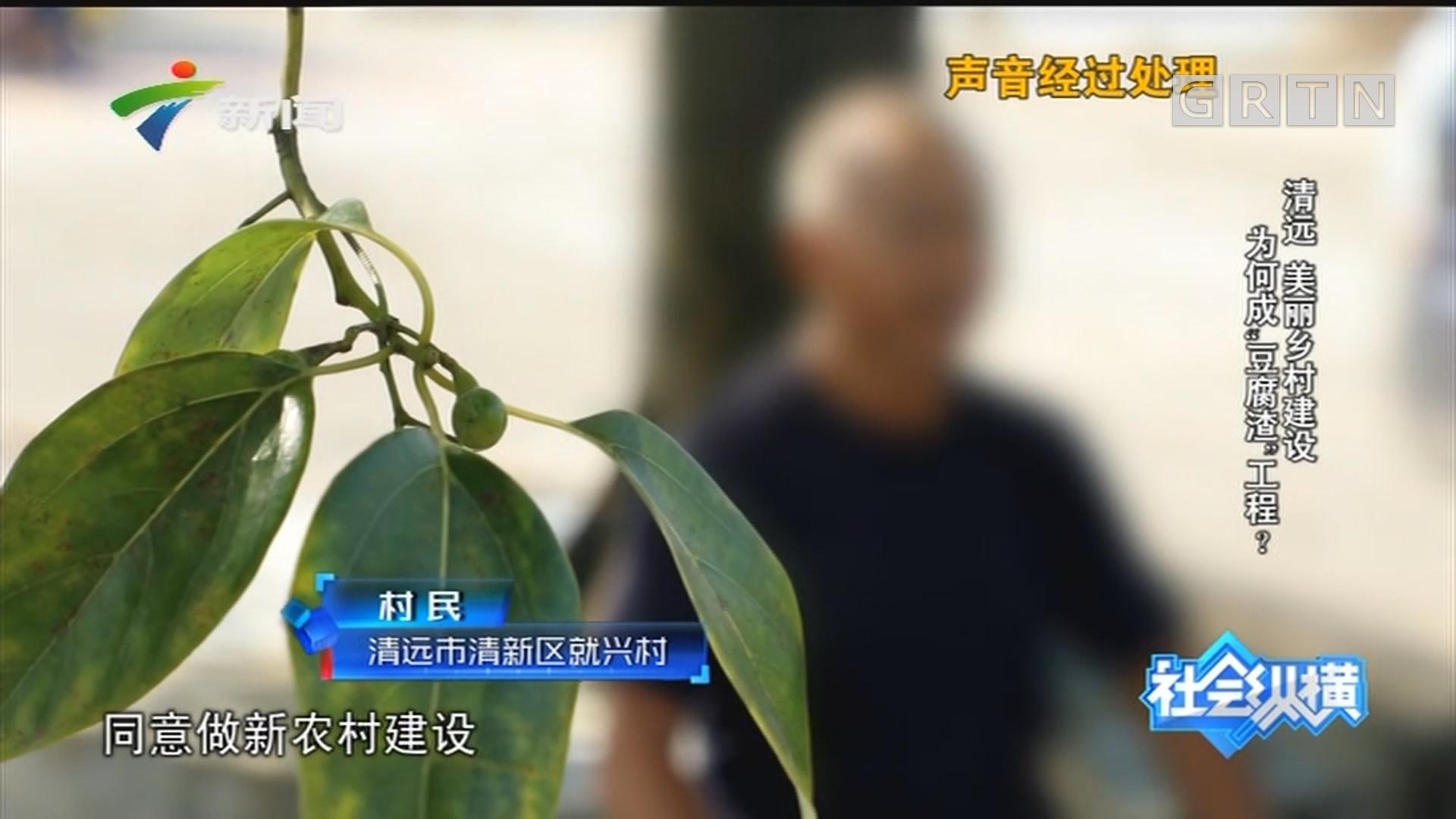 """[HD][2019-07-29]社會縱橫:清遠 美麗鄉村建設 為何成""""豆腐渣""""工程?"""