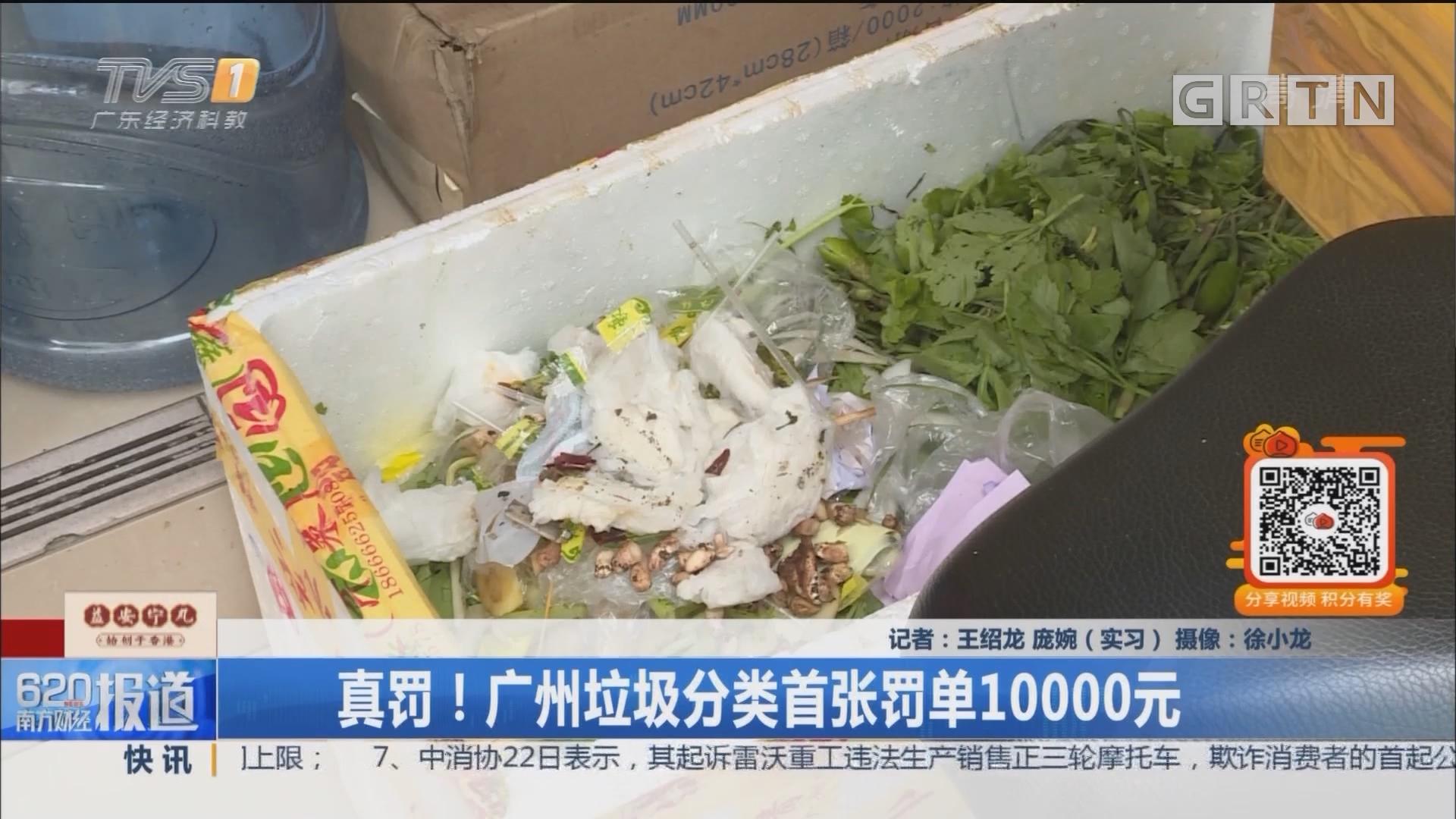 真罚!广州垃圾分类首张罚单10000元