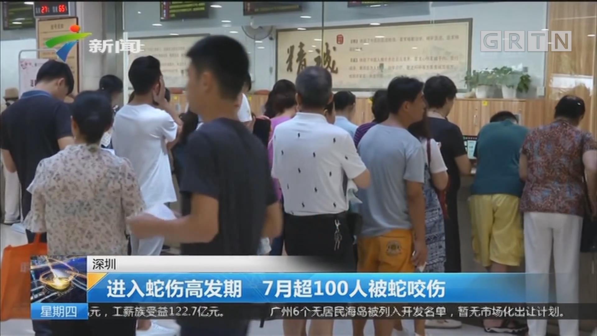 深圳:进入蛇伤高发期 7月超100人被蛇咬伤