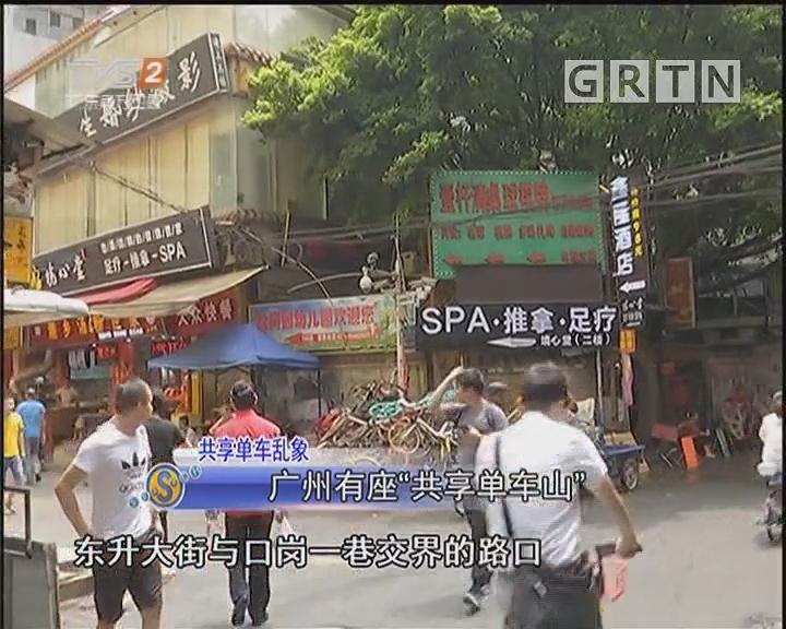 """广州有座""""共享单车山"""""""
