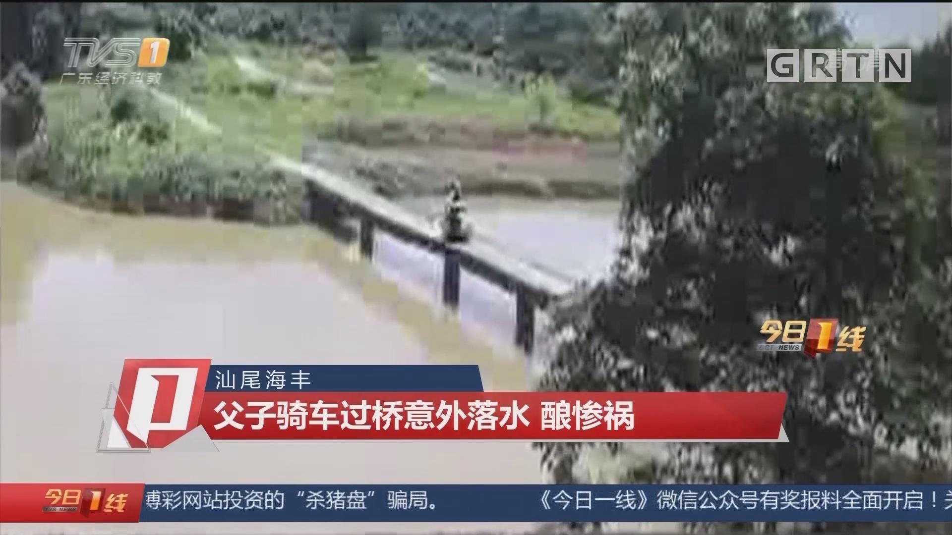 汕尾海丰:父子骑车过桥意外落水 酿惨祸