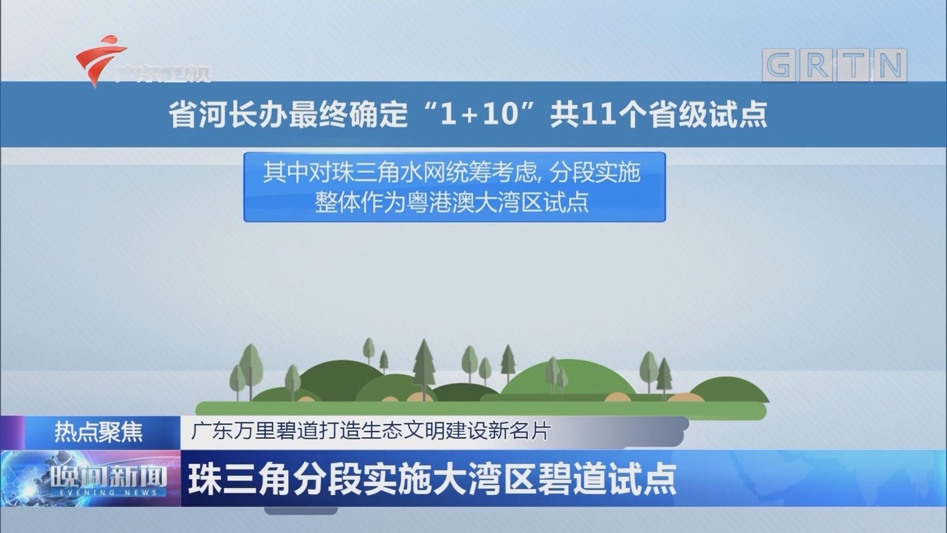 广东万里碧道打造生态文明建设新名片 珠三角分段实施大湾区碧道试点