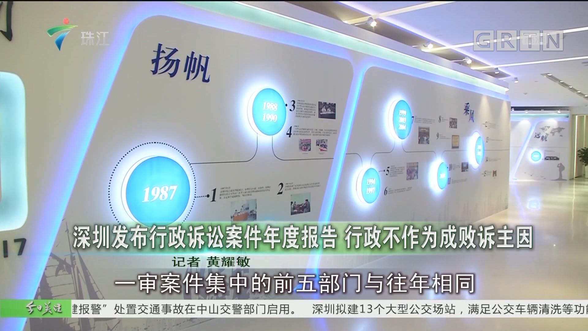 深圳发布行政诉讼案件年度报告 行政不作为成败诉主因