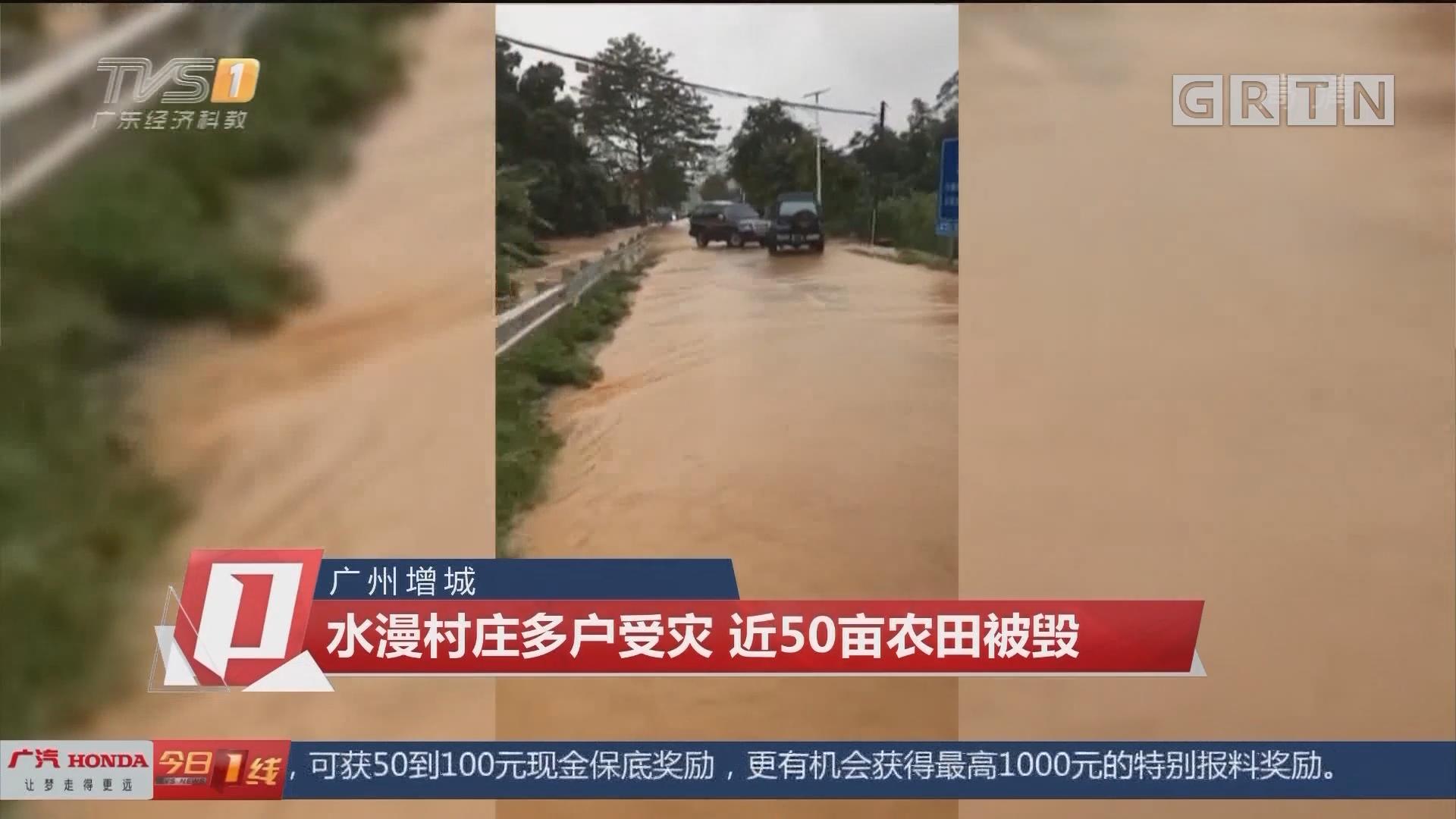 广州增城 水漫村庄多户受灾 近50亩农田被毁