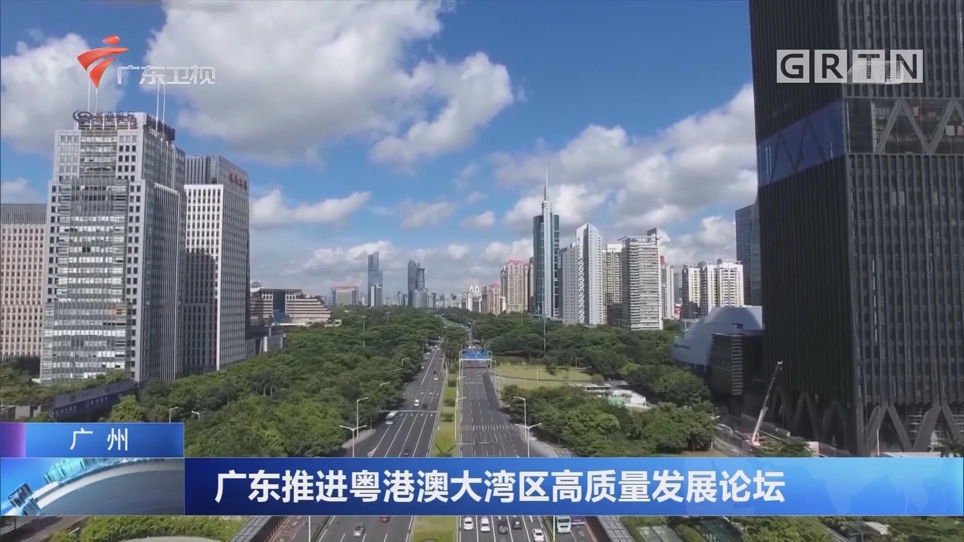 广州:广东推进粤港澳大湾区高质量发展论坛