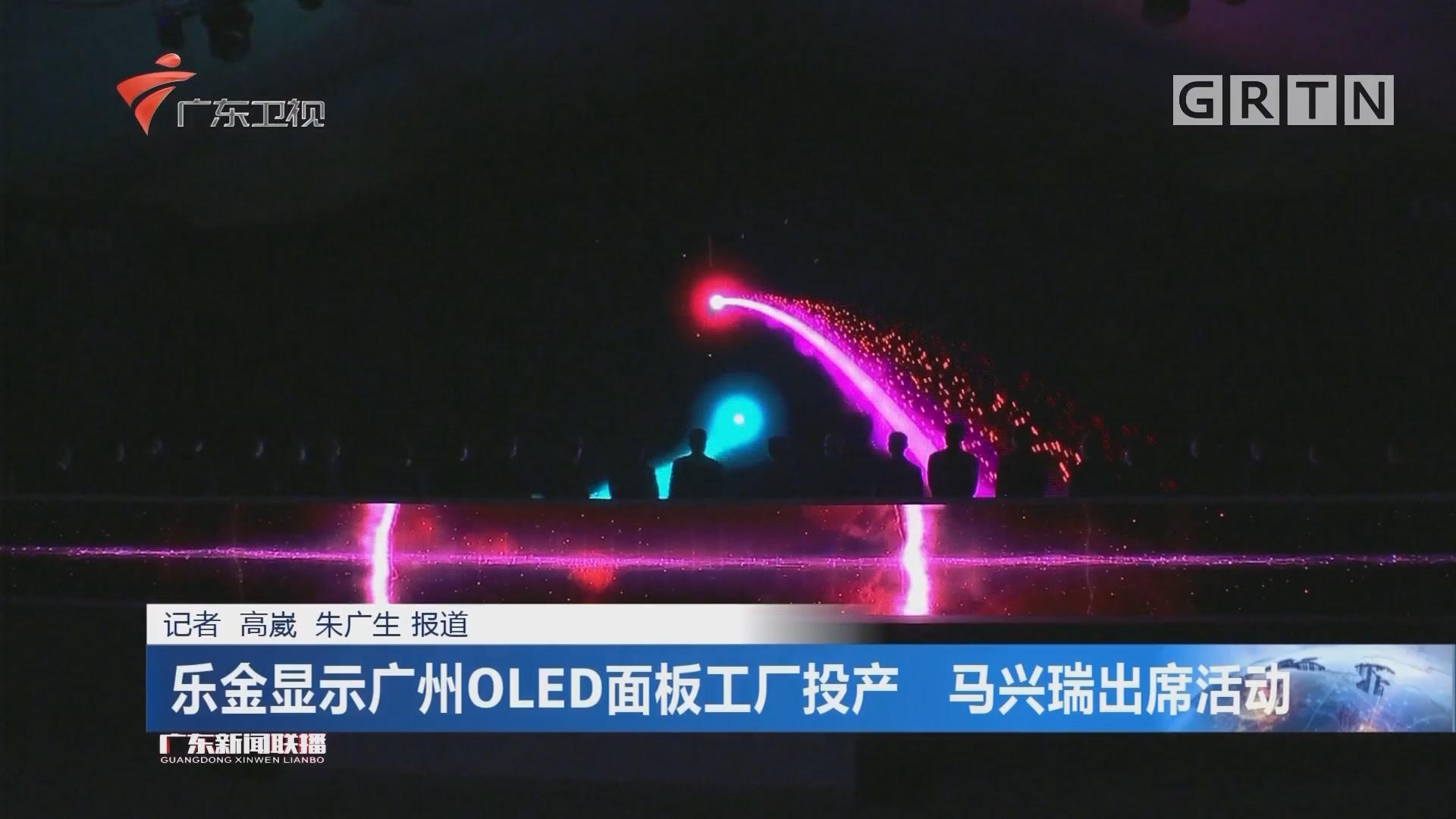 乐金显示广州OLED面板工厂投产 马兴瑞出席活动