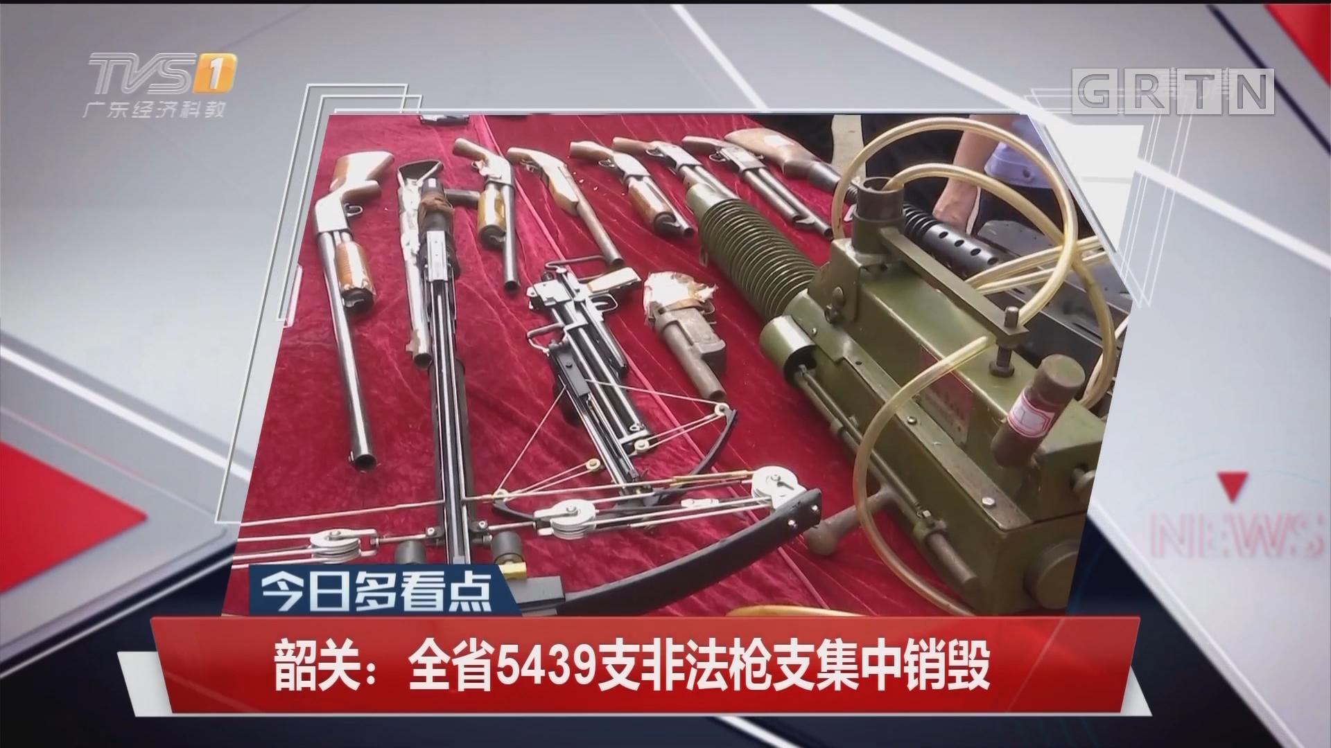 韶关:全省5439支非法枪支集中销毁