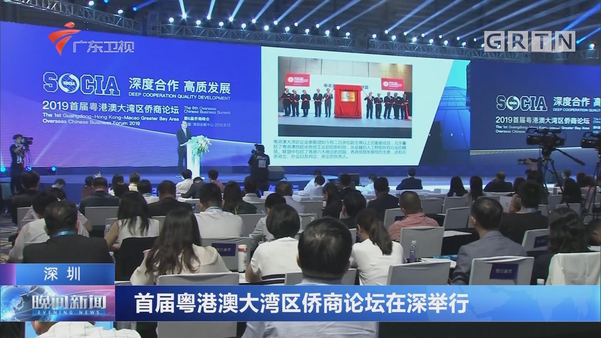深圳:首届粤港澳大湾区侨商论坛在深举行