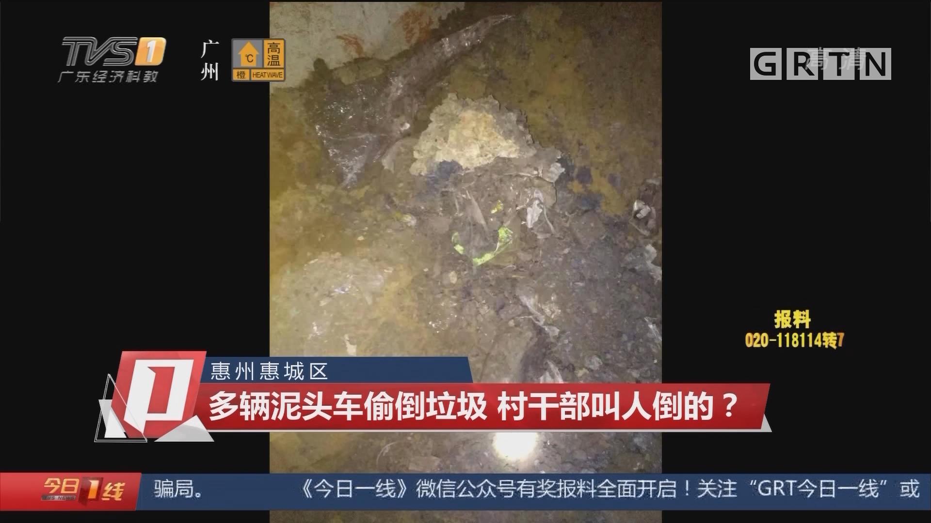 惠州惠城区:多辆泥头车偷倒垃圾 村干部叫人倒的?