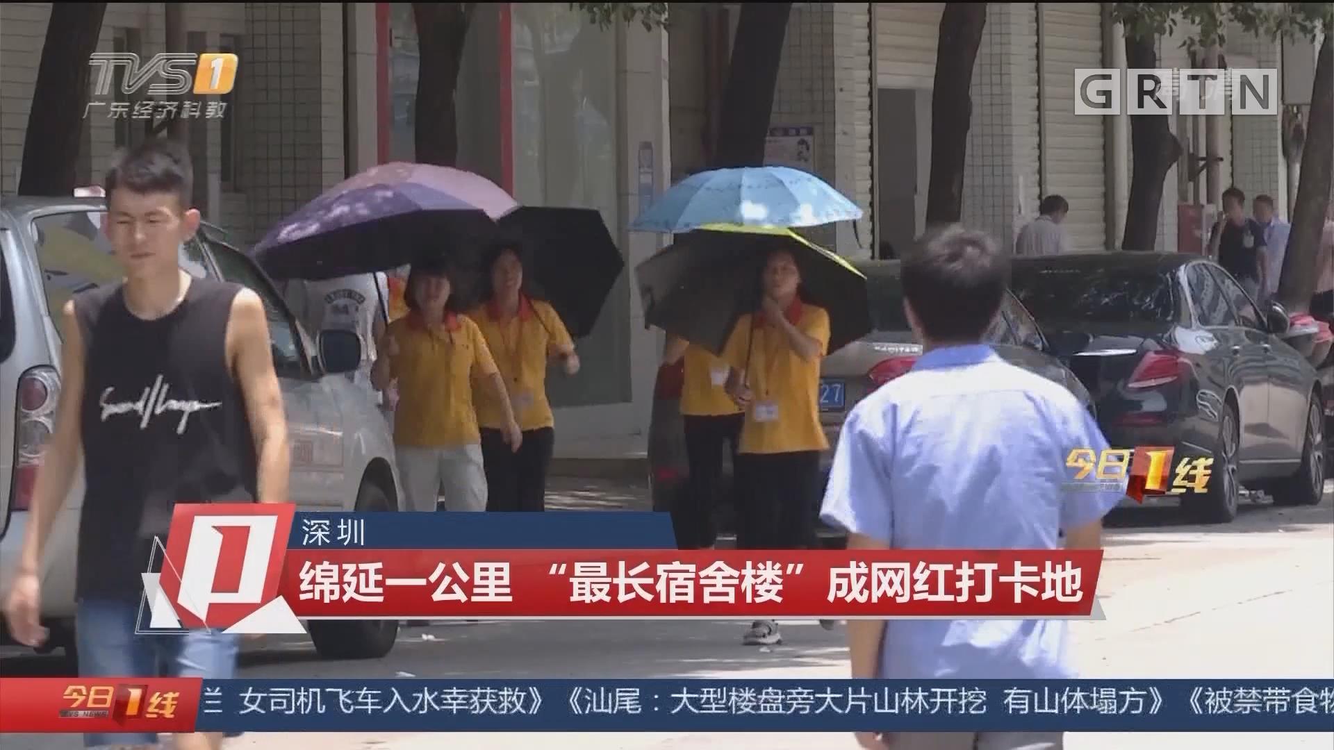 """深圳:绵延一公里 """"最长宿舍楼""""成网红打卡地"""