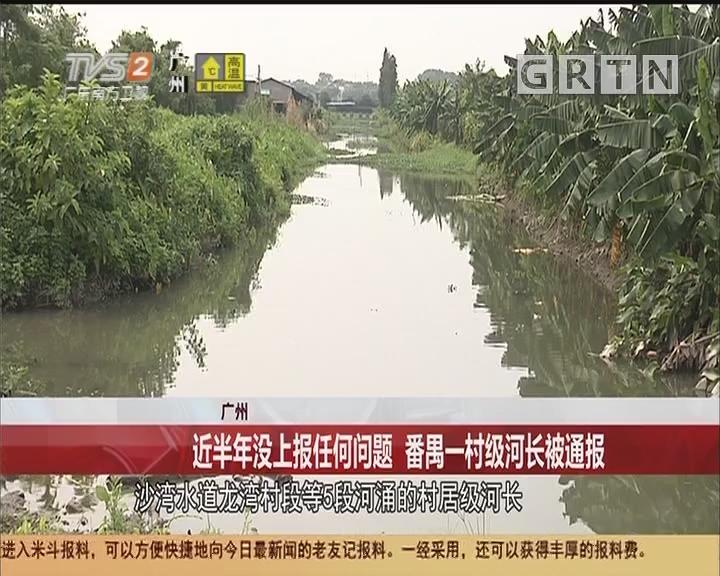 广州:近半年没上报任何问题 番禺一村级河长被通报