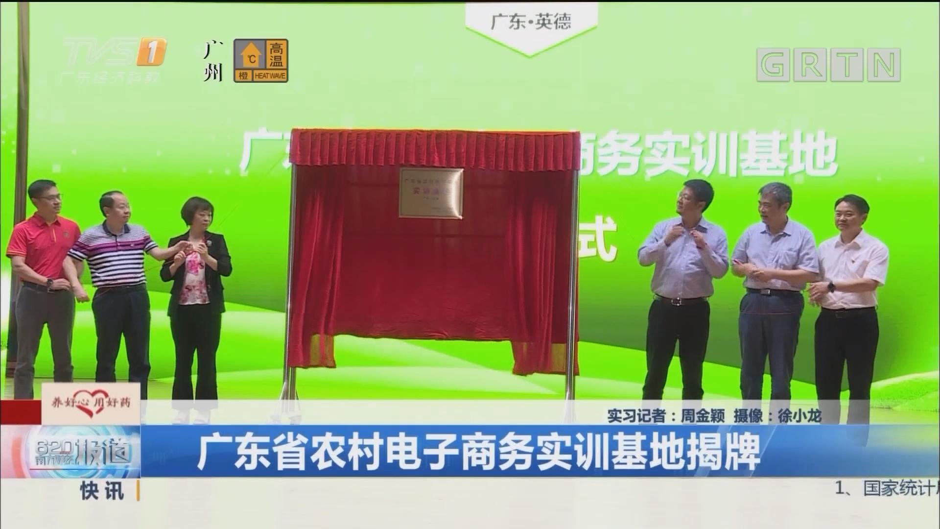 广东省农村电子商务实训基地揭牌