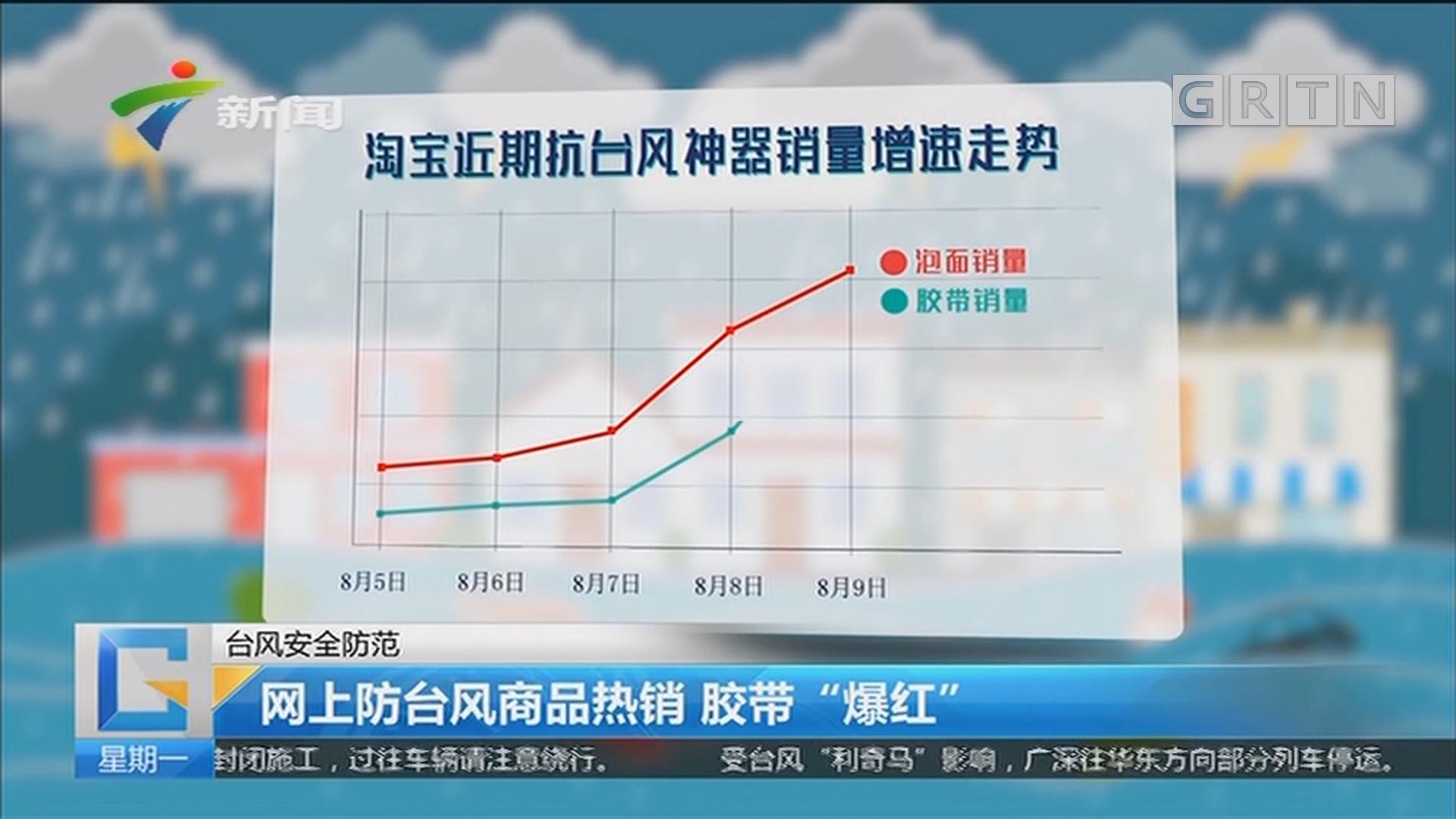 """台风安全防范:网上防台风商品热销 胶带""""爆红"""""""