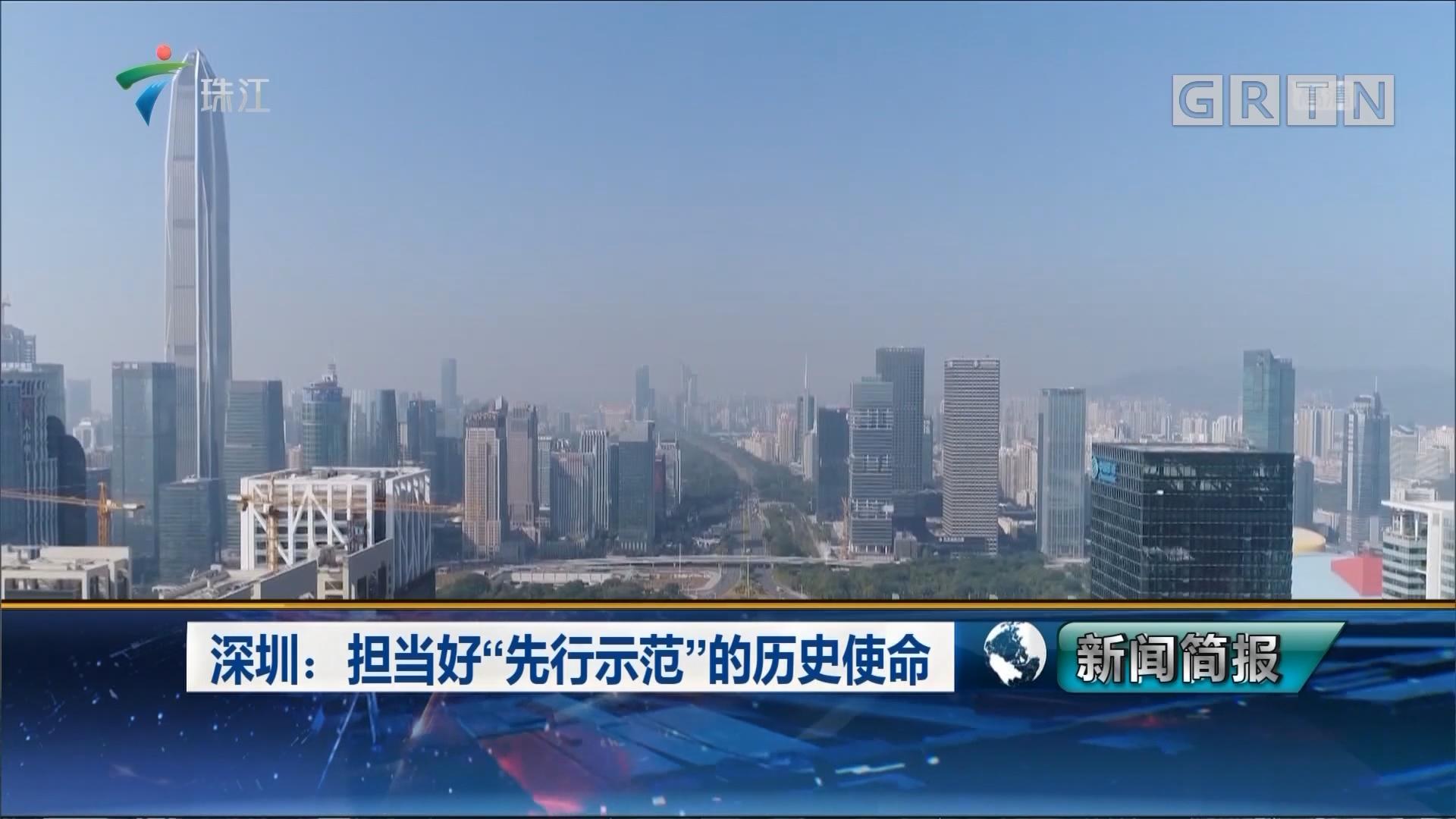 """深圳:担当好""""先行示范""""的历史使命"""