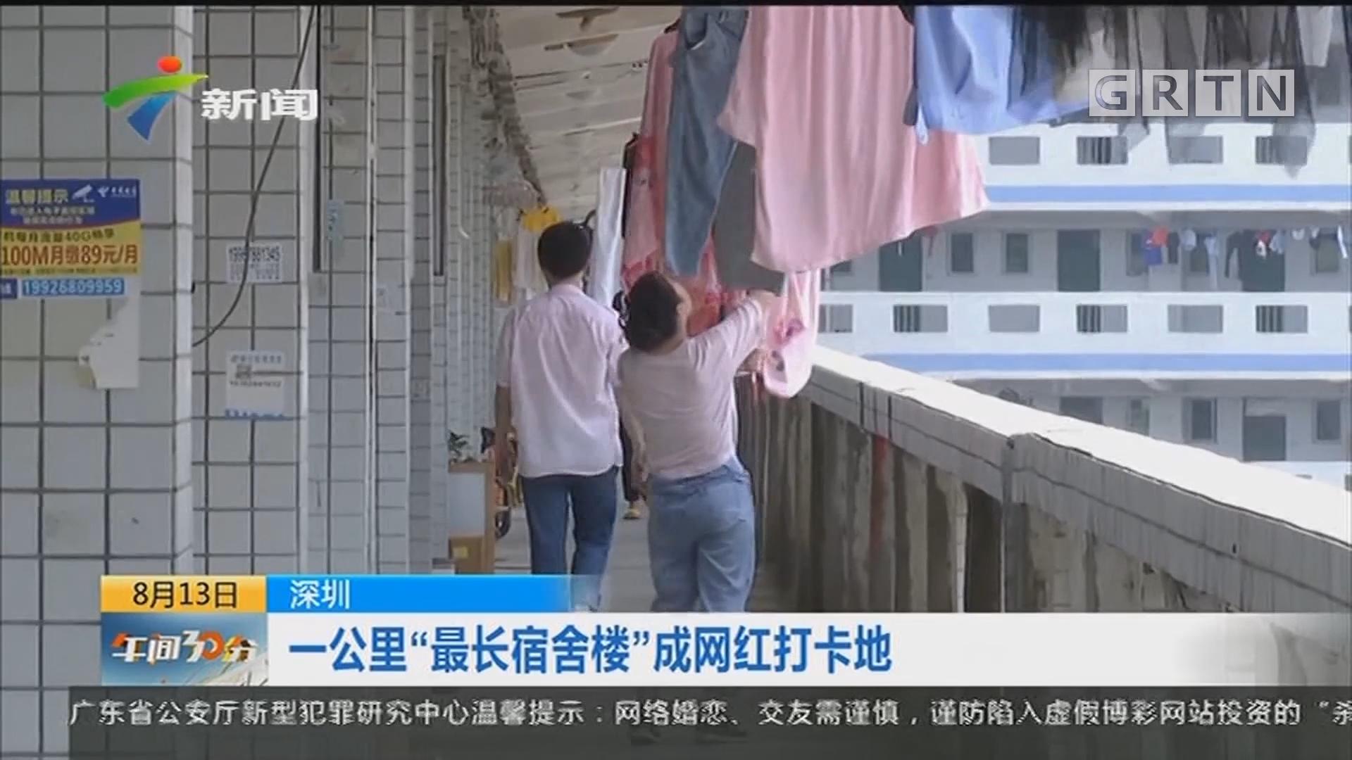 """深圳:一公里""""最长宿舍楼""""成网红打卡地"""