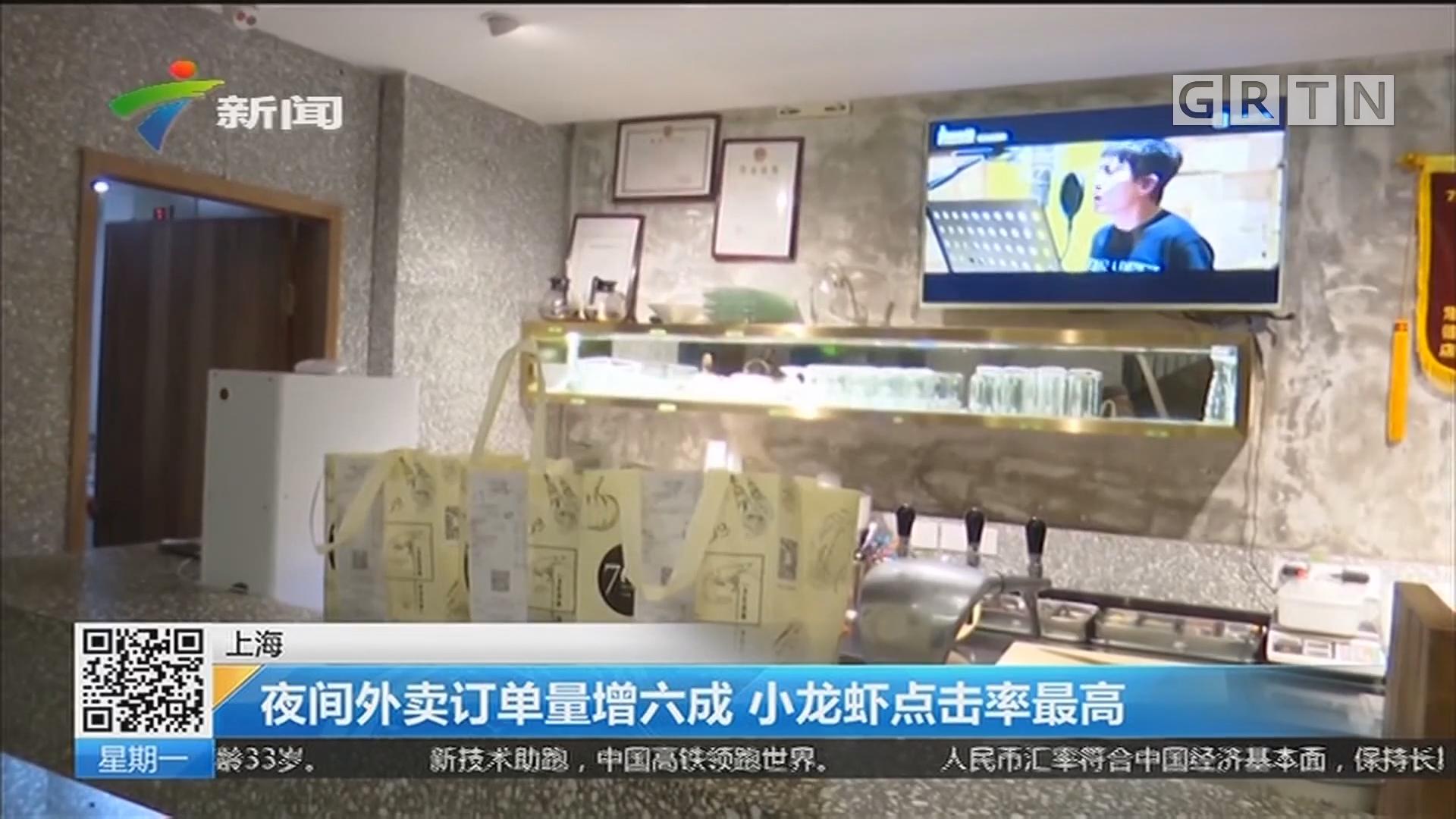 上海:夜间外卖订单量增六成 小龙虾点击率最高