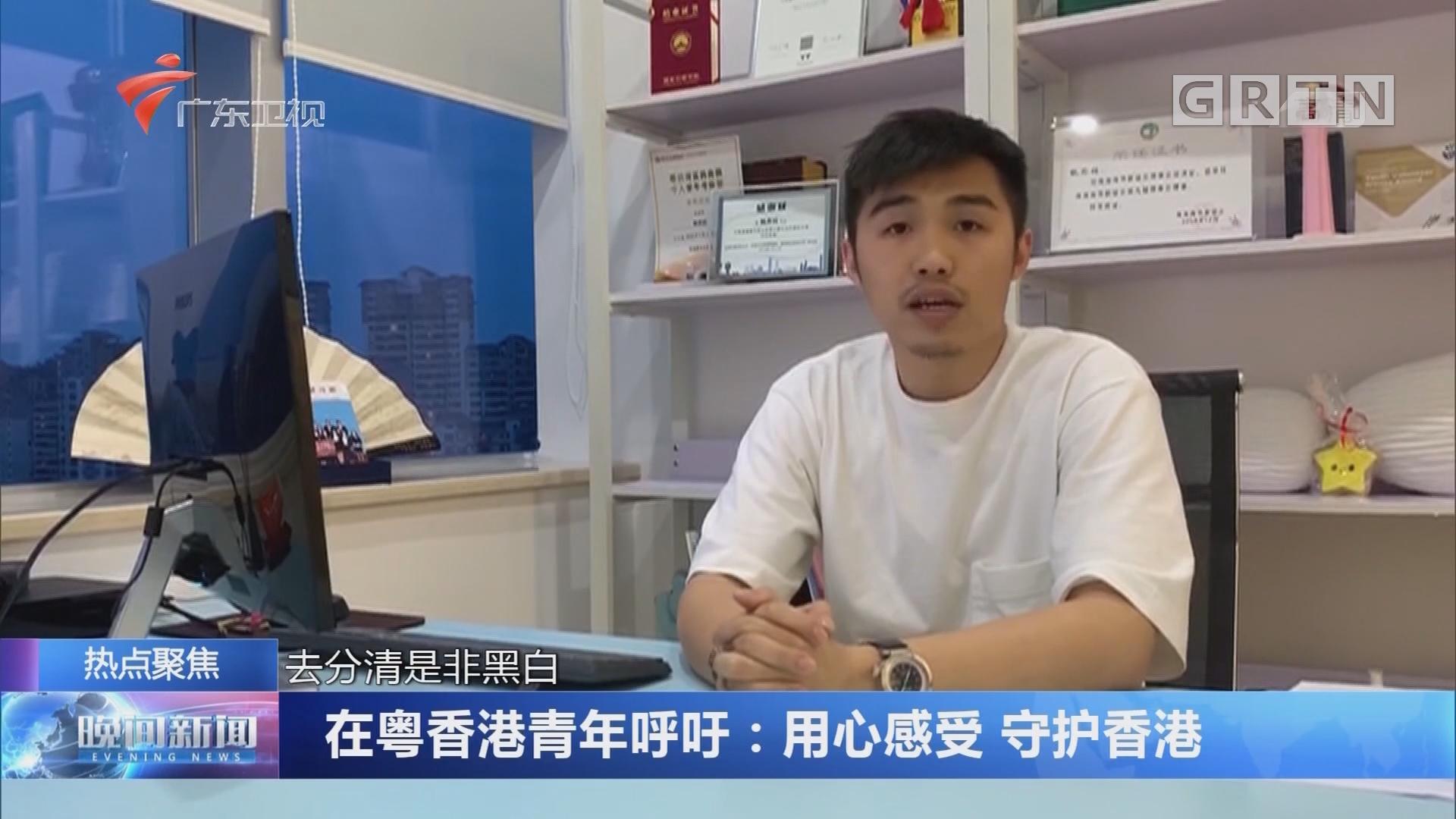 在粤香港青年呼吁:用心感受 守护香港