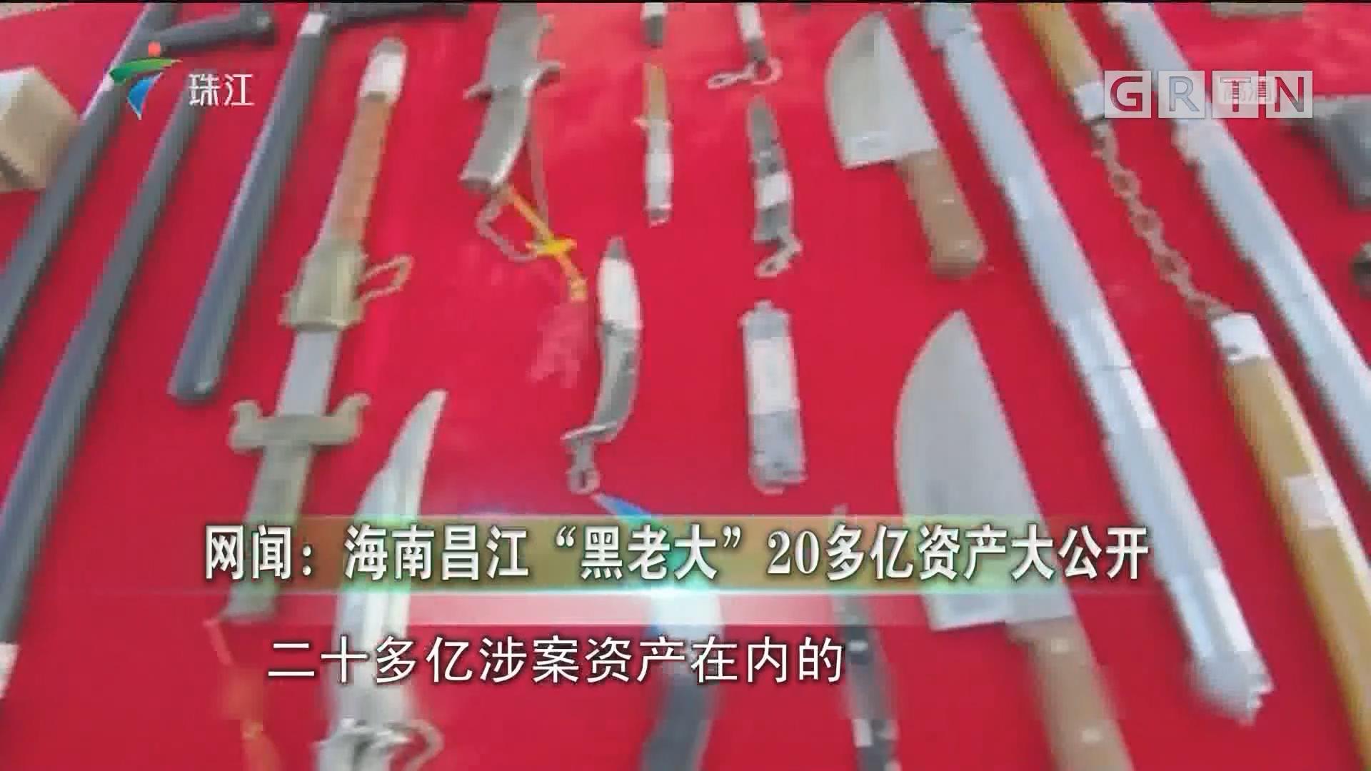 """网闻:海南昌江""""黑老大""""20多亿资产大公开"""