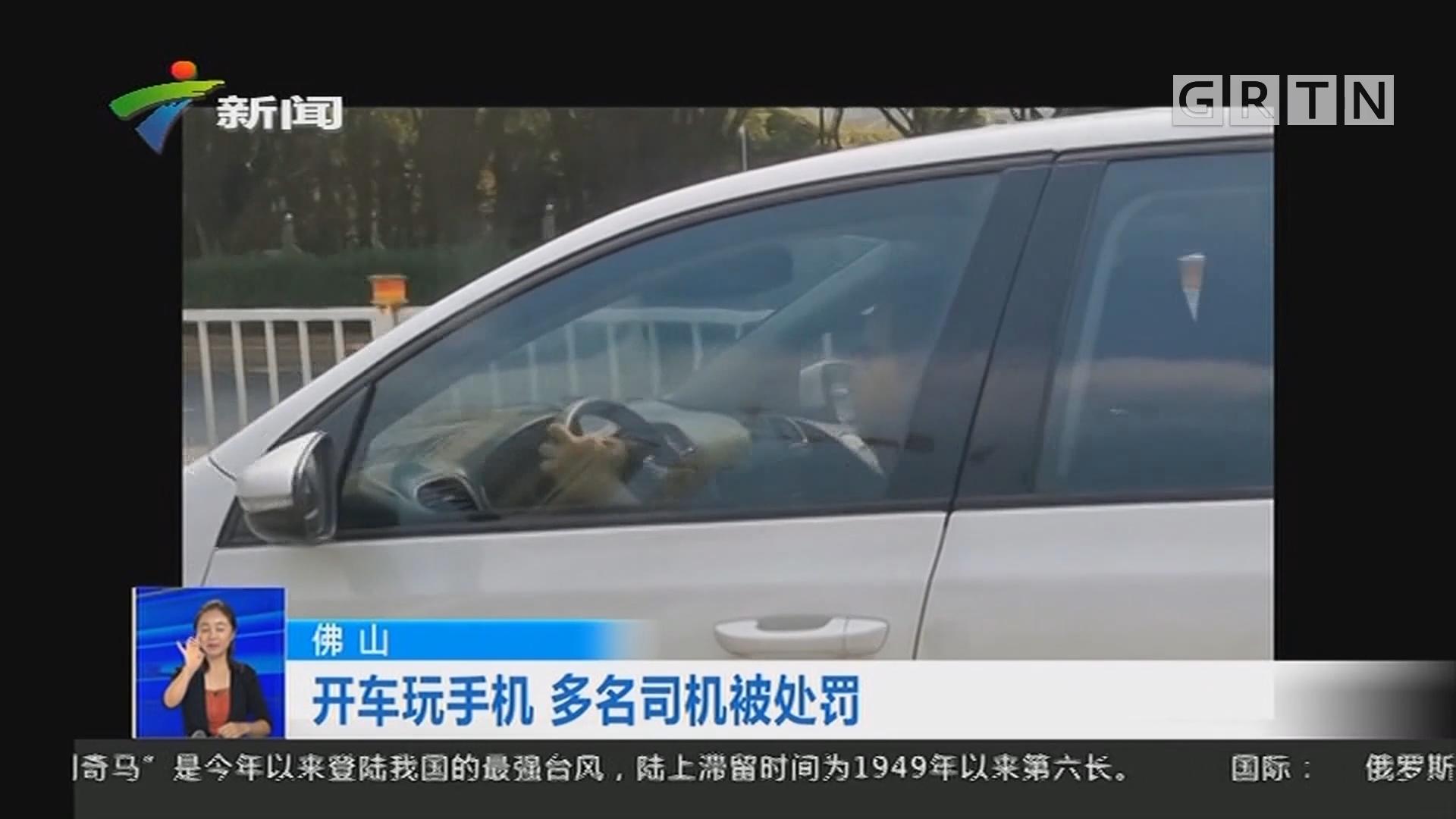 佛山:开车玩手机 多名司机被处罚