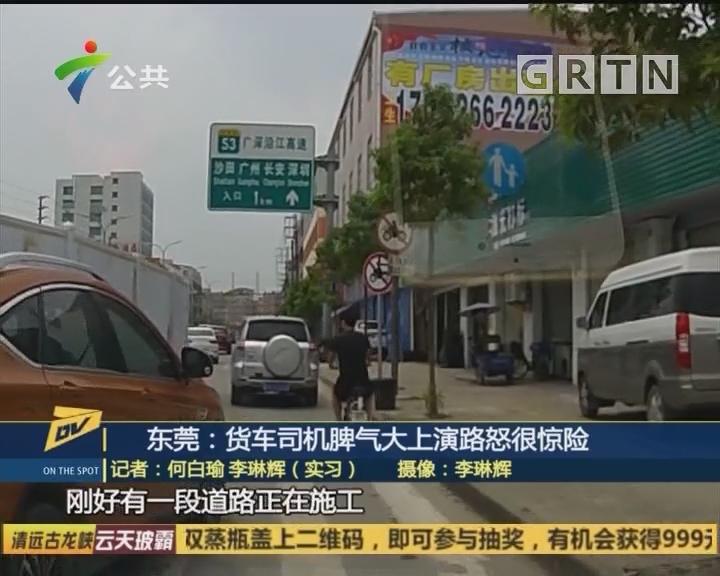 东莞:货车司机脾气大上演路怒很惊险