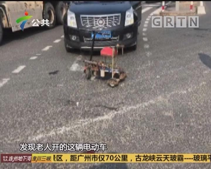 """70岁老人自制电动车 闯红灯上演""""跑跑卡丁车"""""""