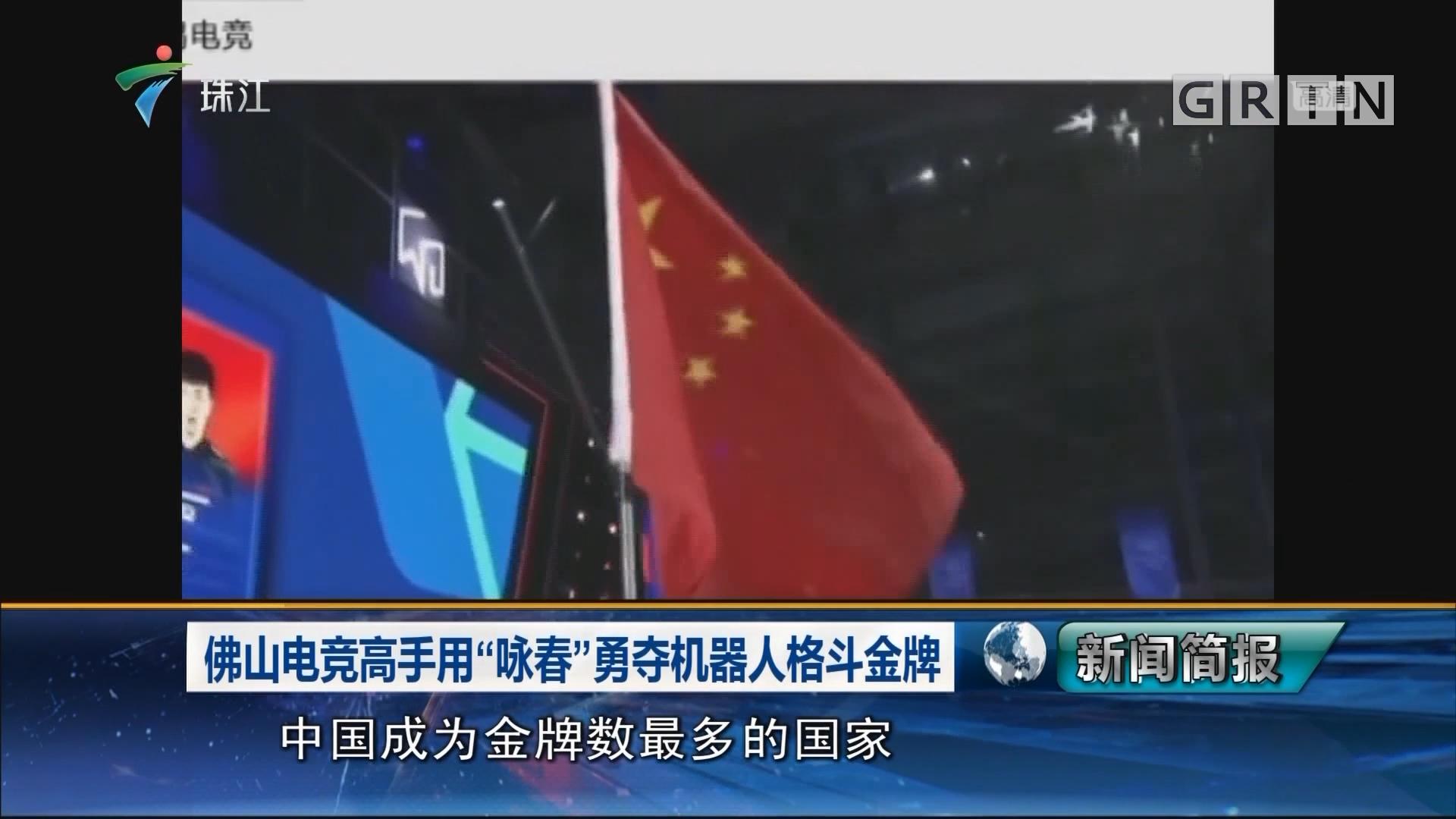"""佛山电竞高手用""""咏春""""勇夺机器人格斗金牌"""