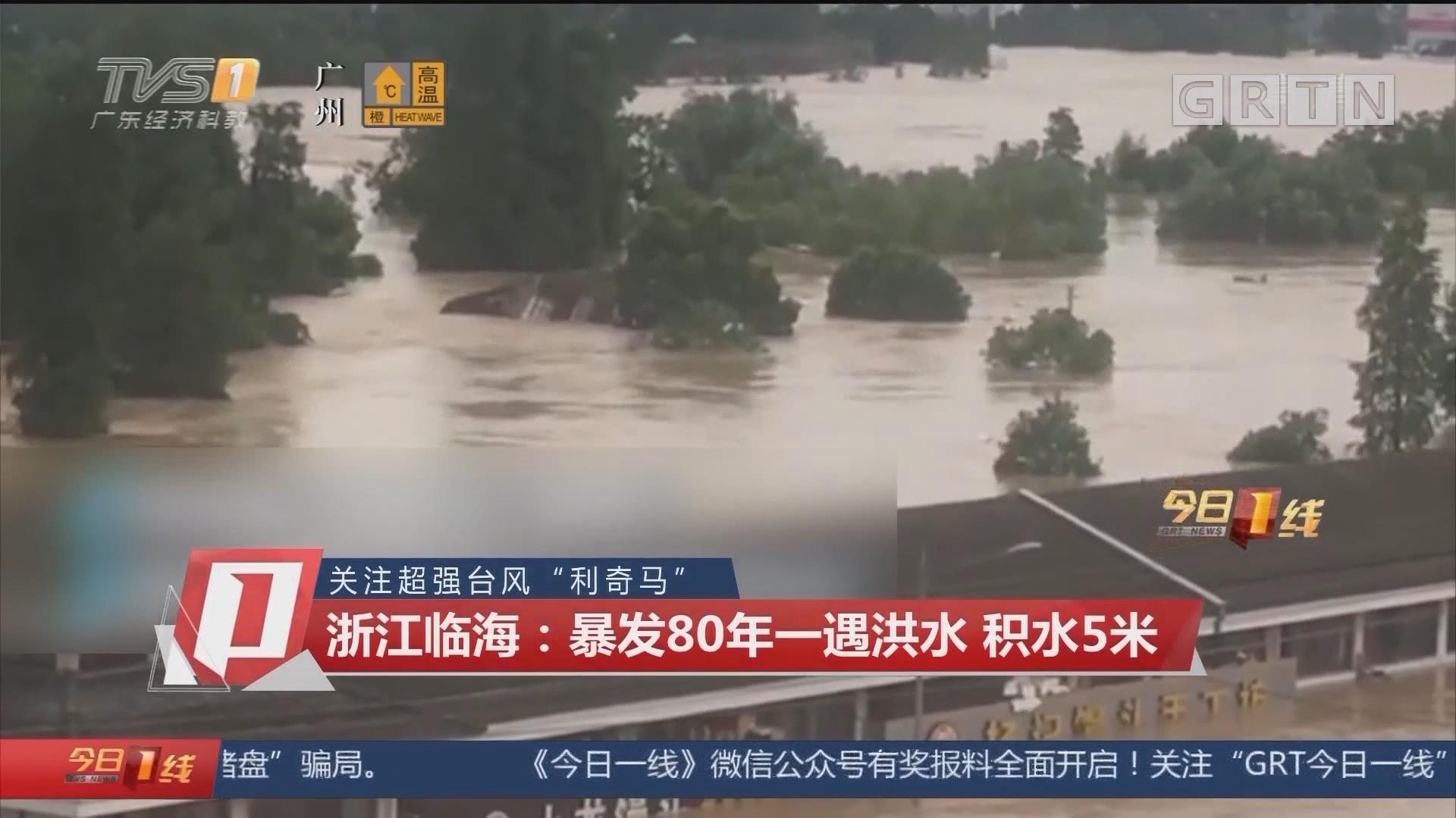 """关注超强台风""""利奇马"""" 浙江临海:暴发80年一遇洪水 积水5米"""