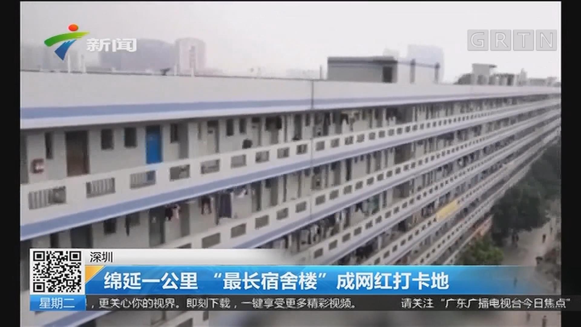"""深圳:绵延一公里""""最长宿舍楼""""成网红打卡地"""