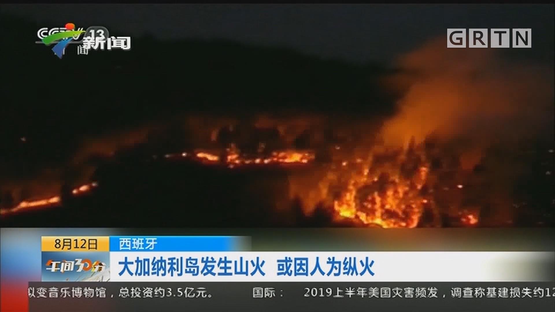 西班牙:大加纳利岛发生山火 或因人为纵火