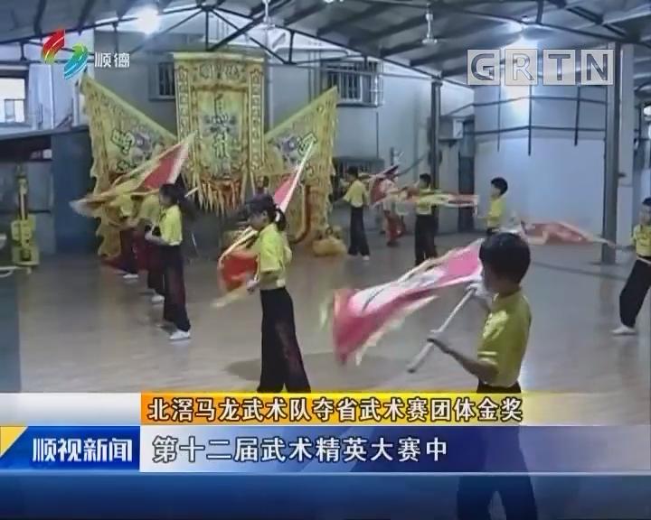 北滘马龙武术队夺省武术赛团体金奖