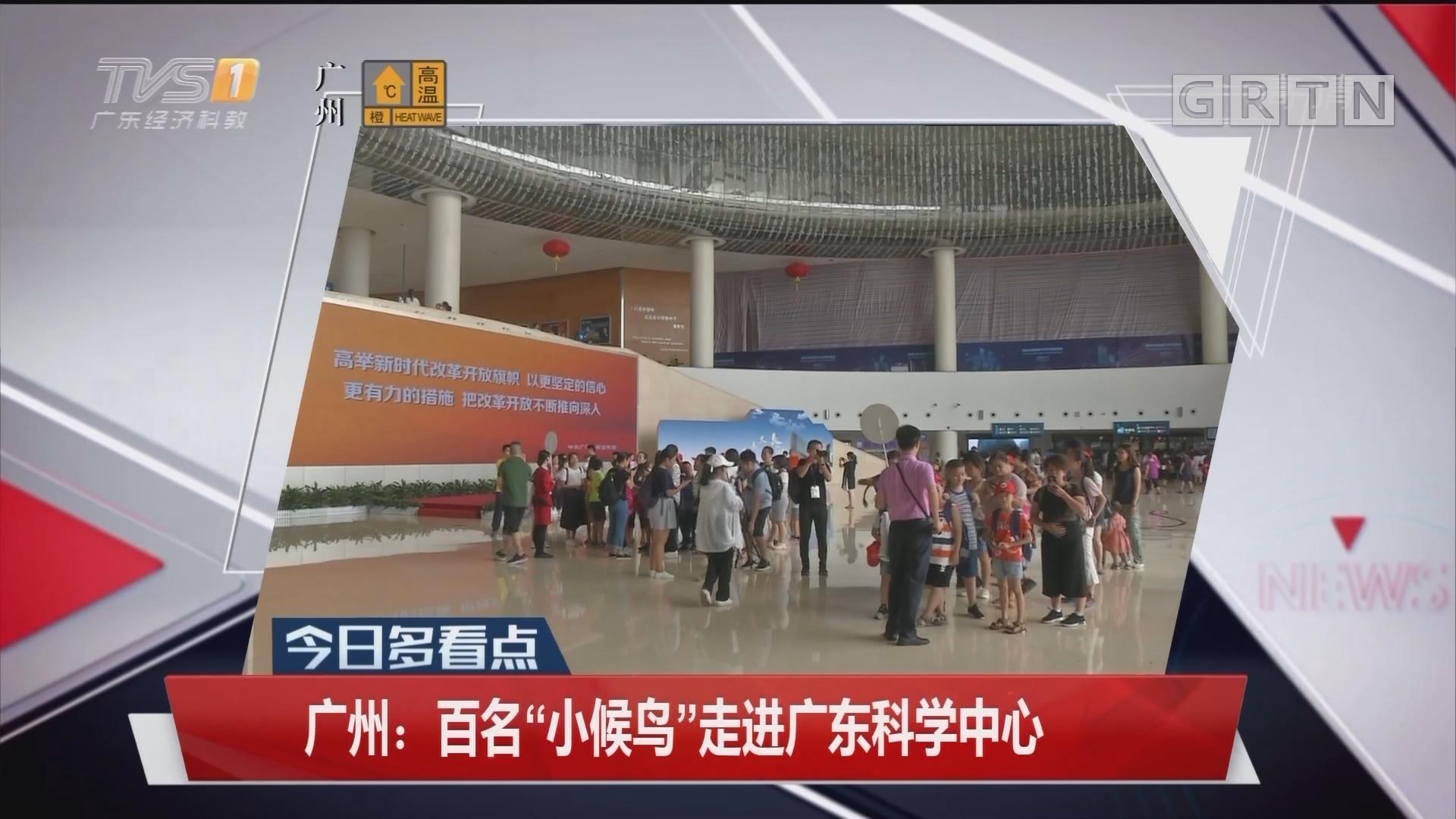 """广州:百名""""小候鸟""""走进广东科学中心"""