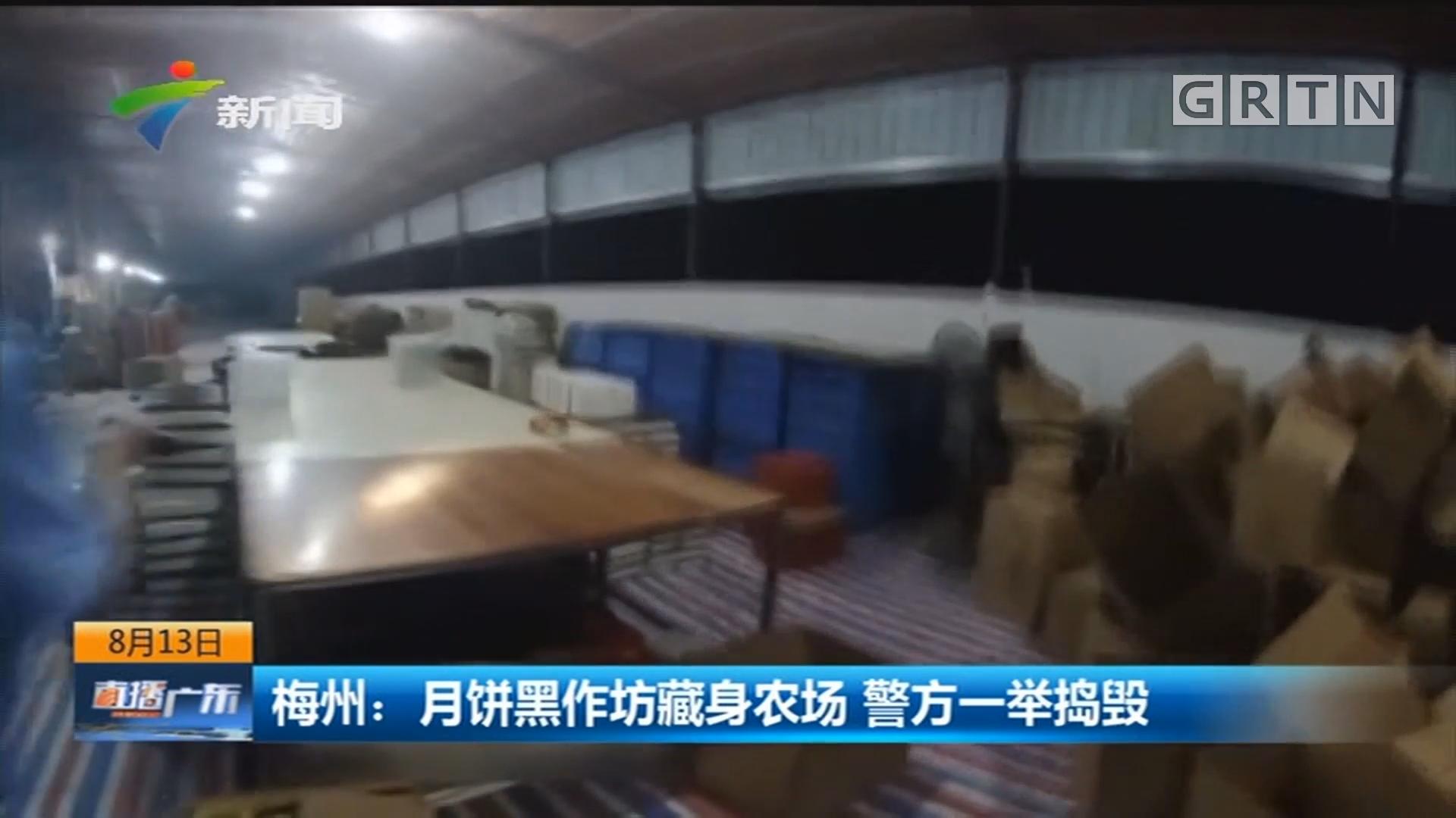 梅州:月饼黑作坊藏身农场 警方一举捣毁