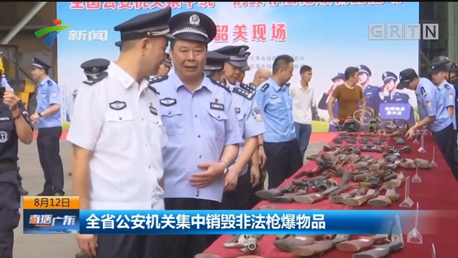 全省公安机关集中销毁非法枪爆物品
