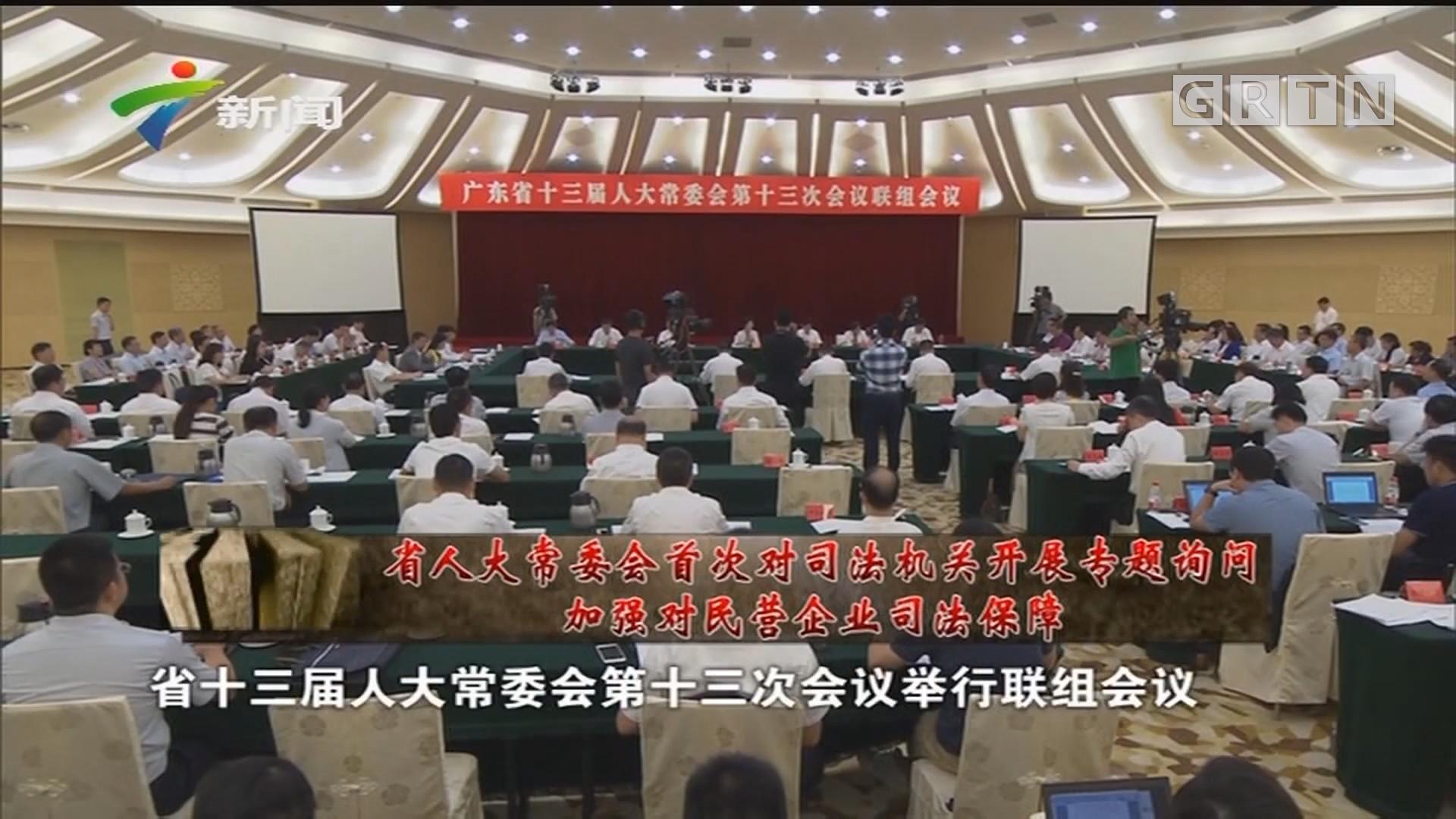 [HD][2019-08-24]人大代表:省人大常委会首次对司法机关开展专题询问 加强对民营企业司法保障