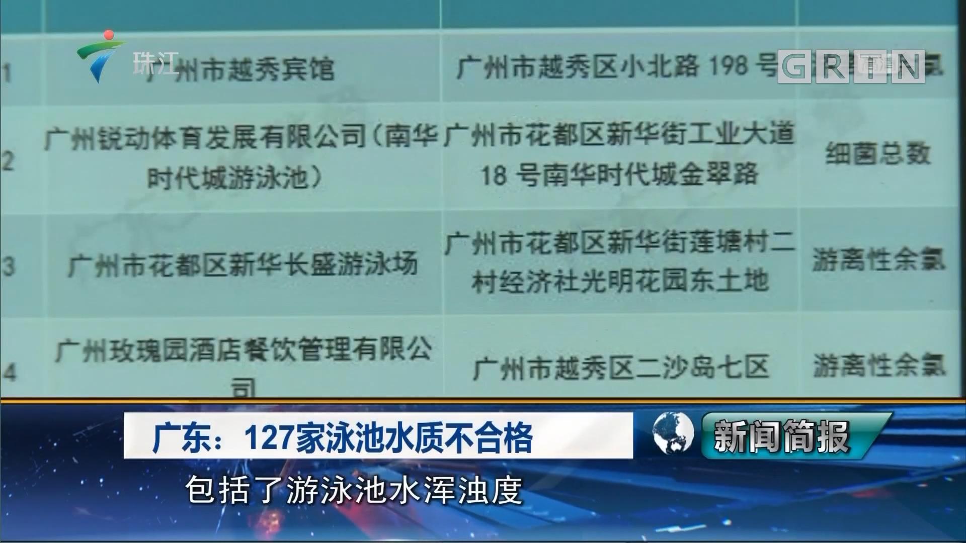 广东:127家泳池水质不合格