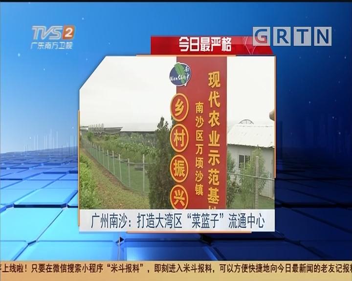 """今日最严格 广州南沙:打造大湾区""""菜篮子""""流通中心"""