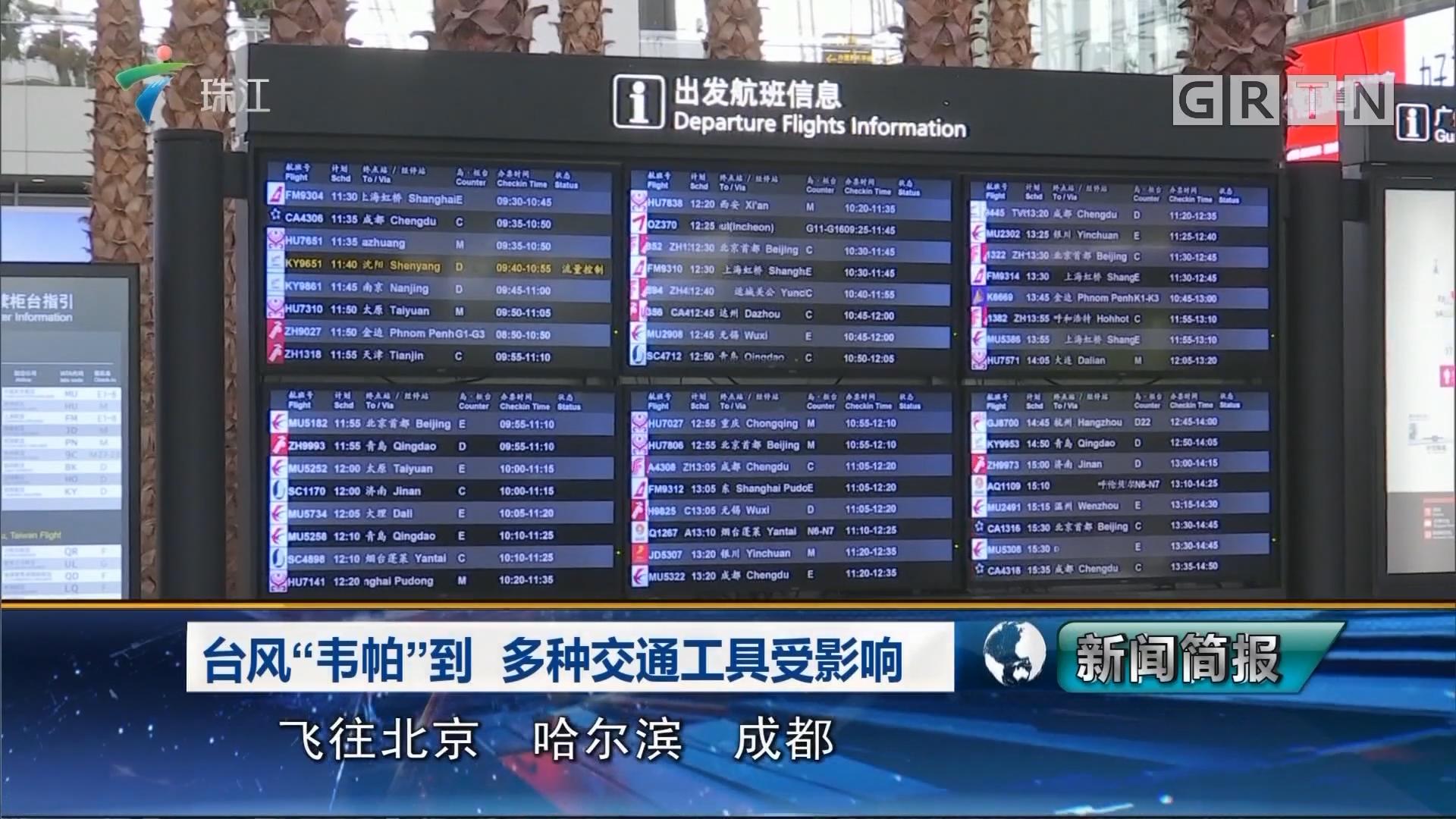 """台风""""韦帕""""到  多种交通工具受影响"""