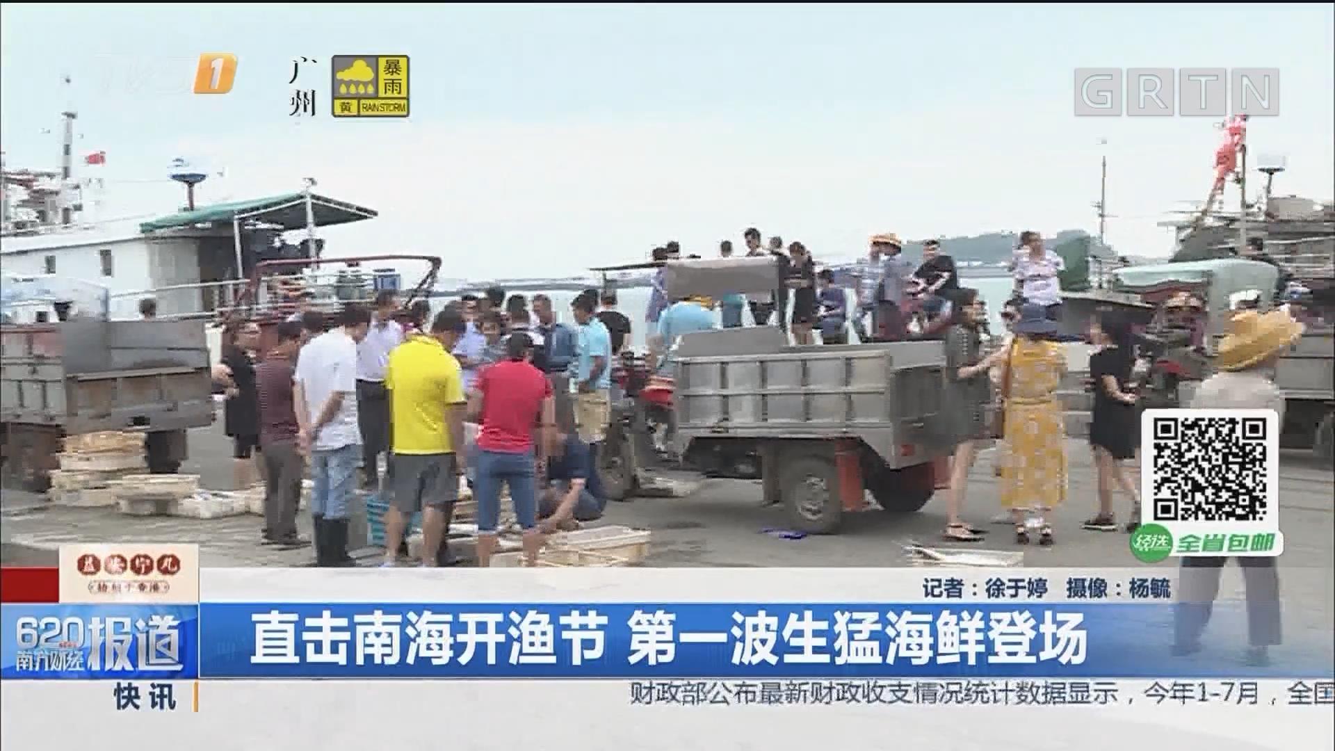 直击南海开渔节 第一波生猛海鲜登场