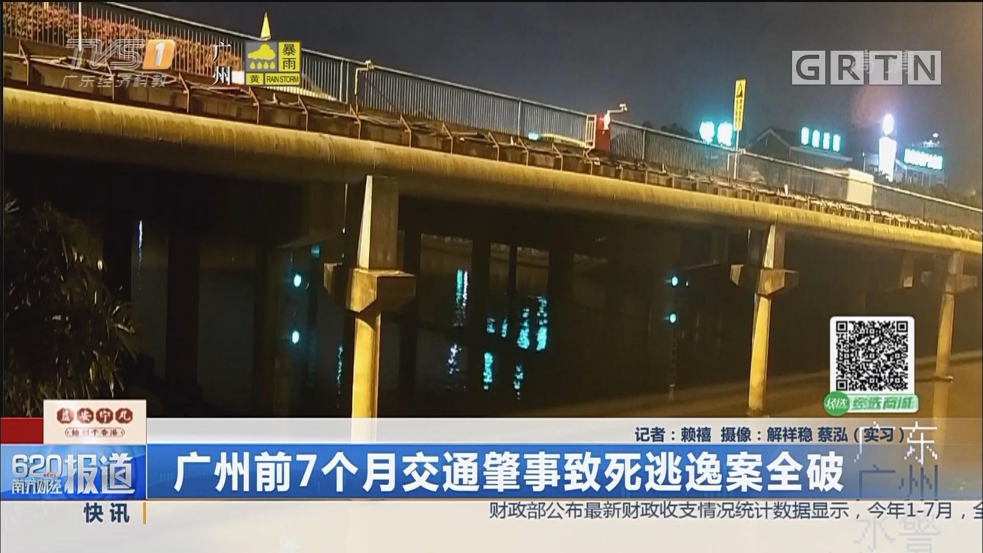 广州前7个月交通肇事致死逃逸案全破