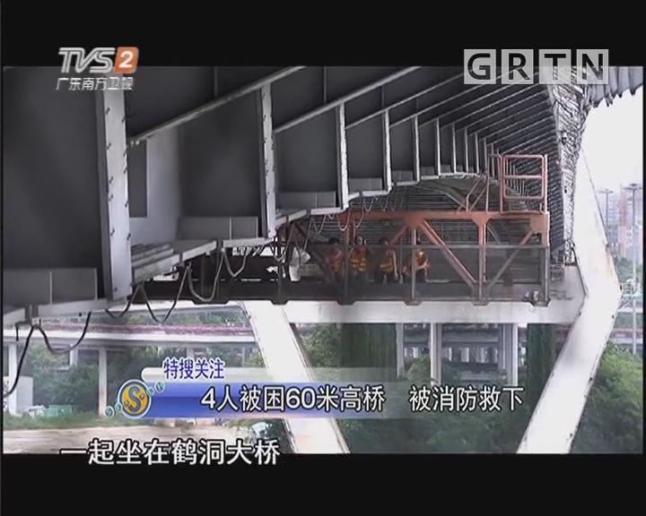 4人被困60米高桥 被消防救下