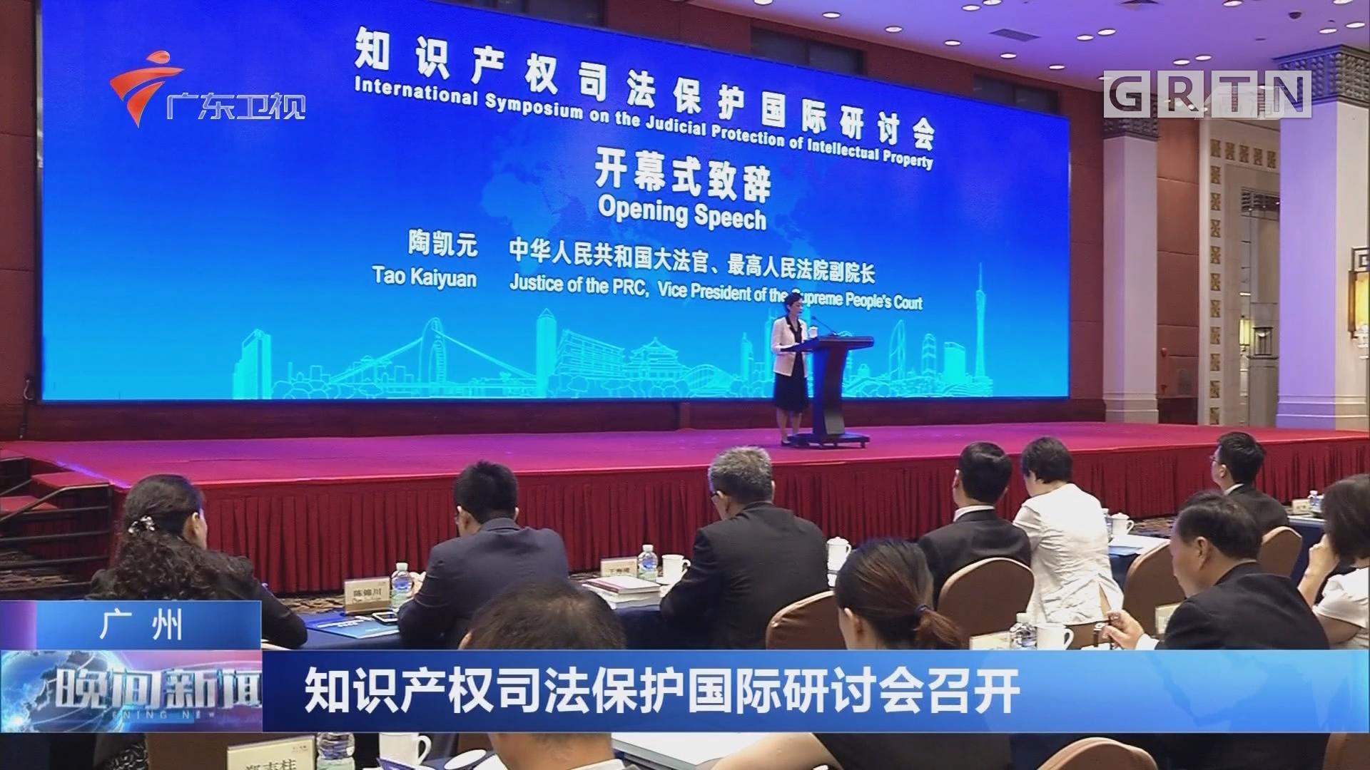 广州:知识产权司法保护国际研讨会召开