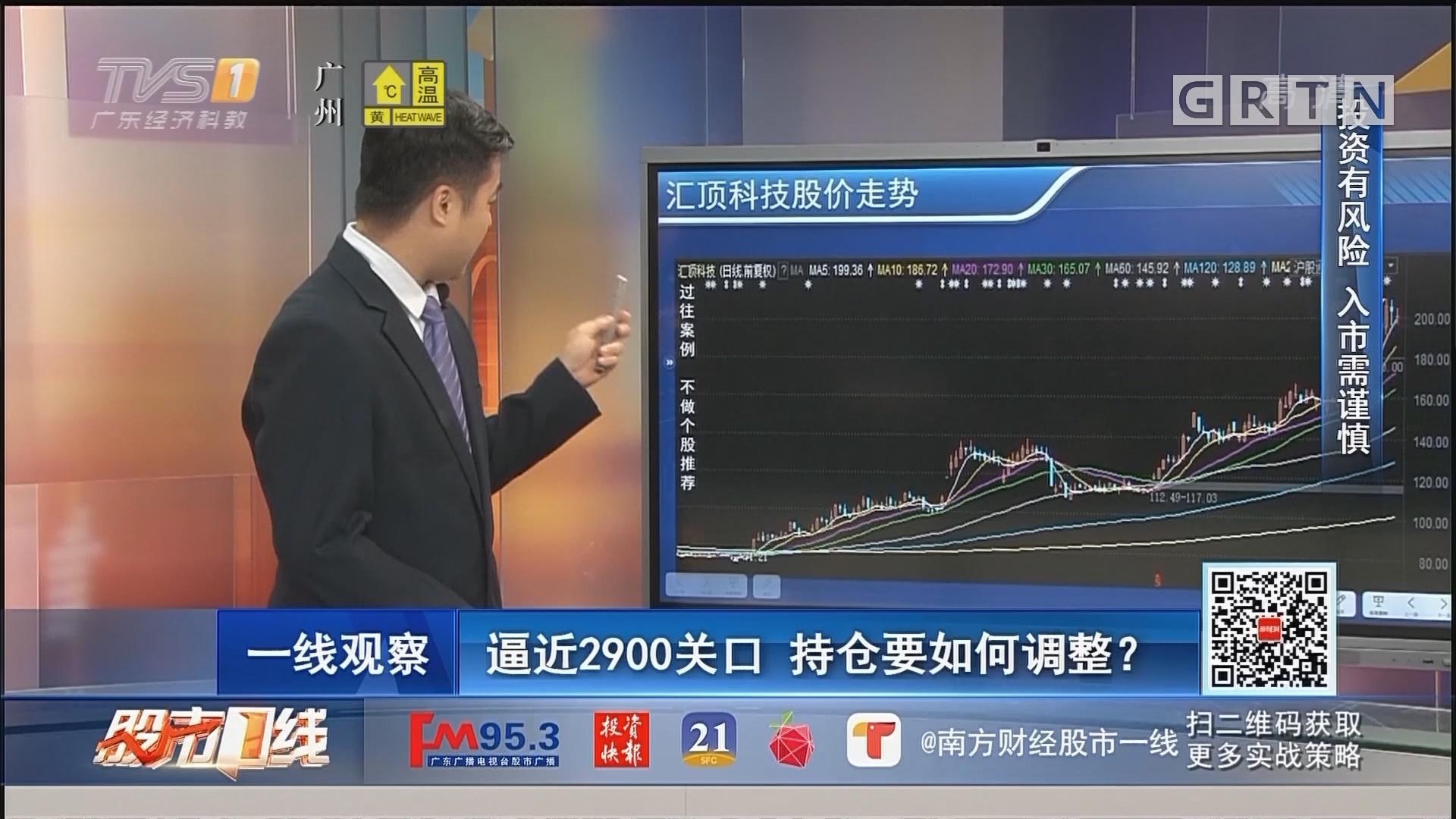[HD][2019-08-23]股市一线:逼近2900关口 持仓要如何调整?