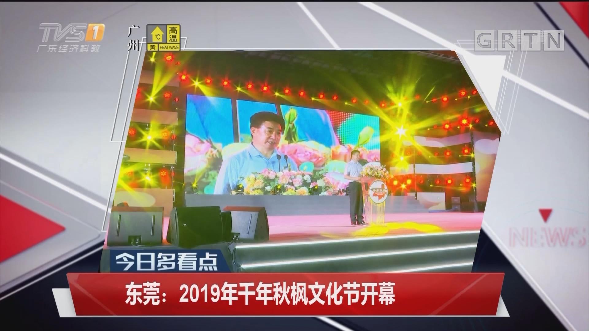 东莞:2019年千年秋枫文化节开幕