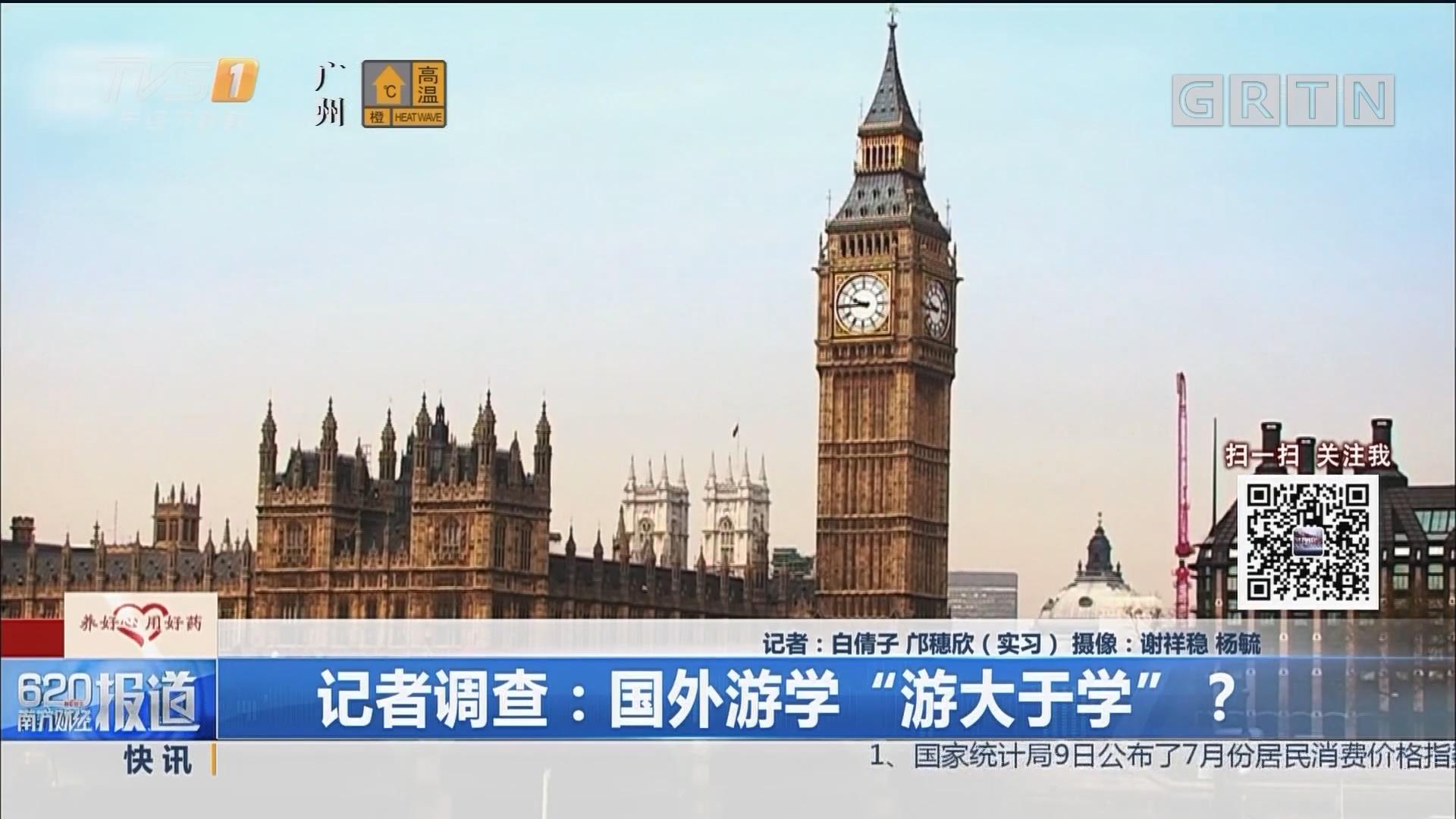 """记者调查:国外游学""""游大于学""""?"""