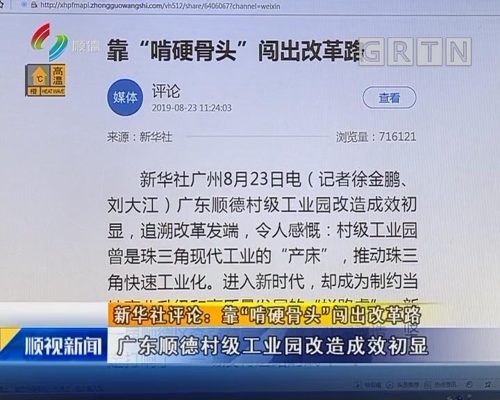 """新华社评论:靠""""啃硬骨头""""闯出改革路"""