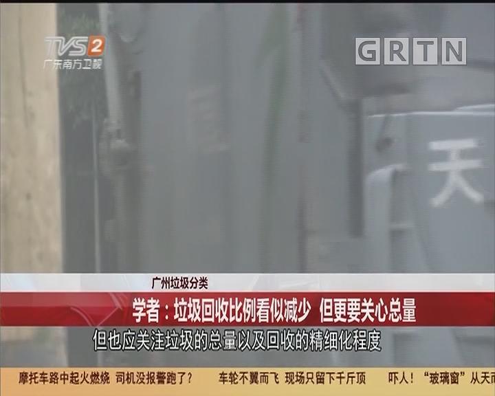 廣州垃圾分類 學者:垃圾回收比例看似減少 但更要關心總量