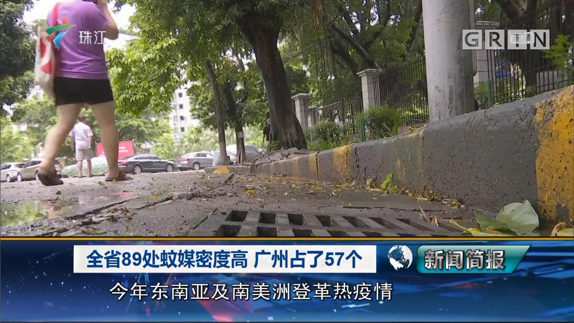 全省89处蚊媒密度高 广州占了57个