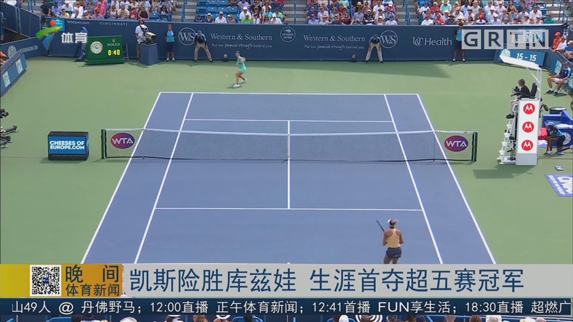 凯斯险胜库兹娃 生涯首夺超五赛冠军